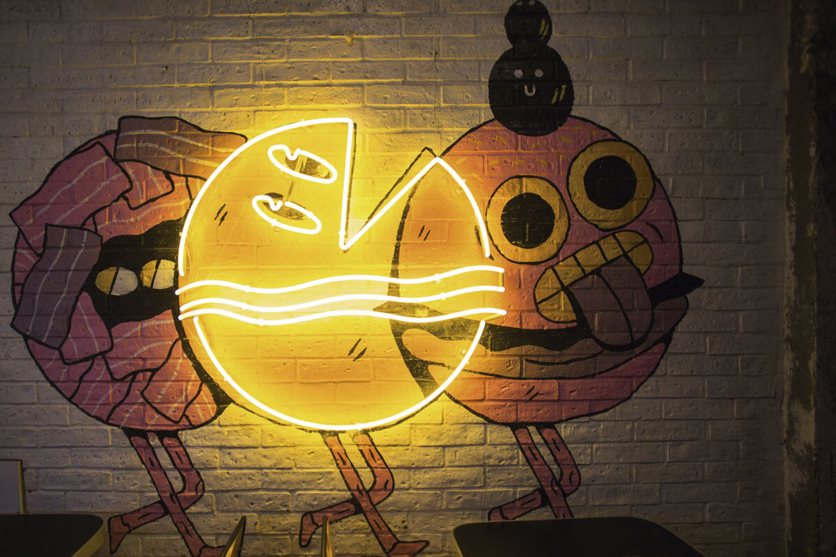 Letreros de luces neón en la CDMX