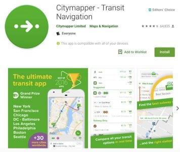 Citymapper crea mapas descargables con las mejores rutas de camión f2f97579304aa