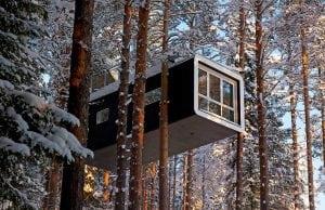 casas de árbol que son hoteles