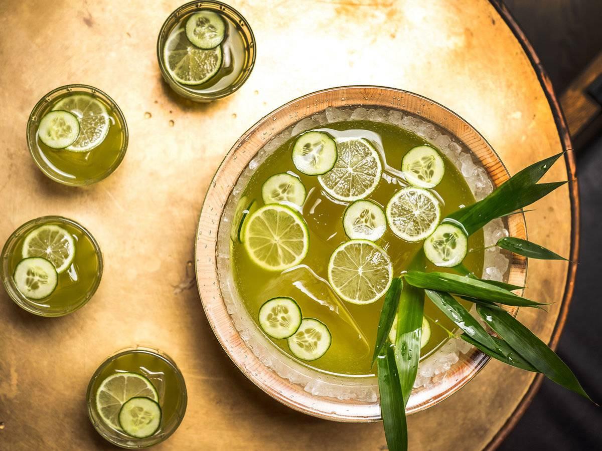 ponche verano té verde
