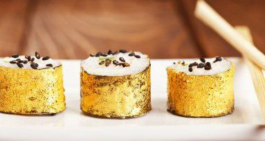comida con oro