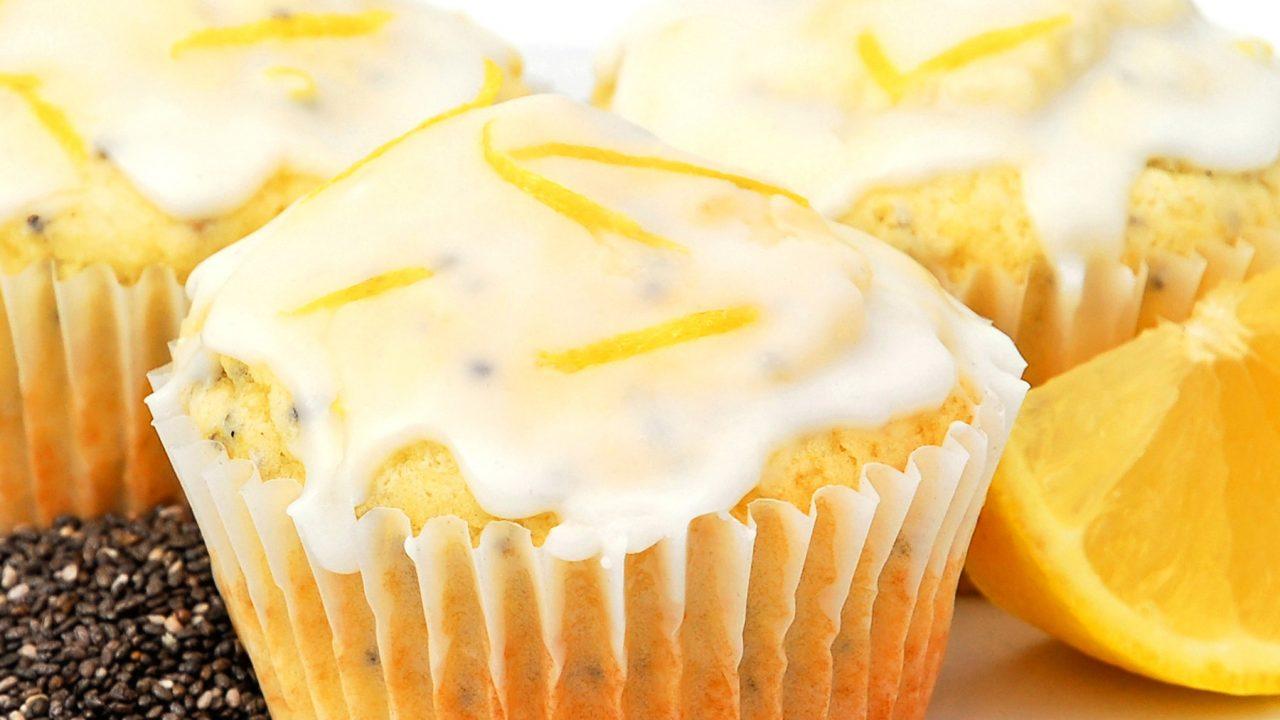 Muffins de naranja con chía