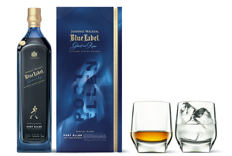 Walker Blue Label Ghost and Rare Port Ellen
