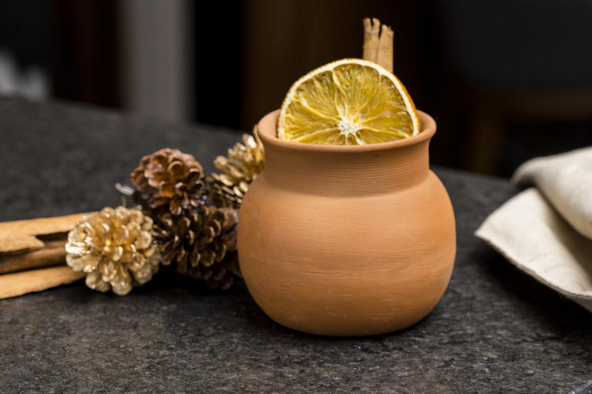 Ponche navideño con gin