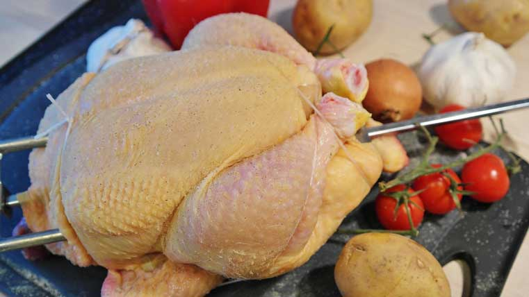 lavar carne y pollo