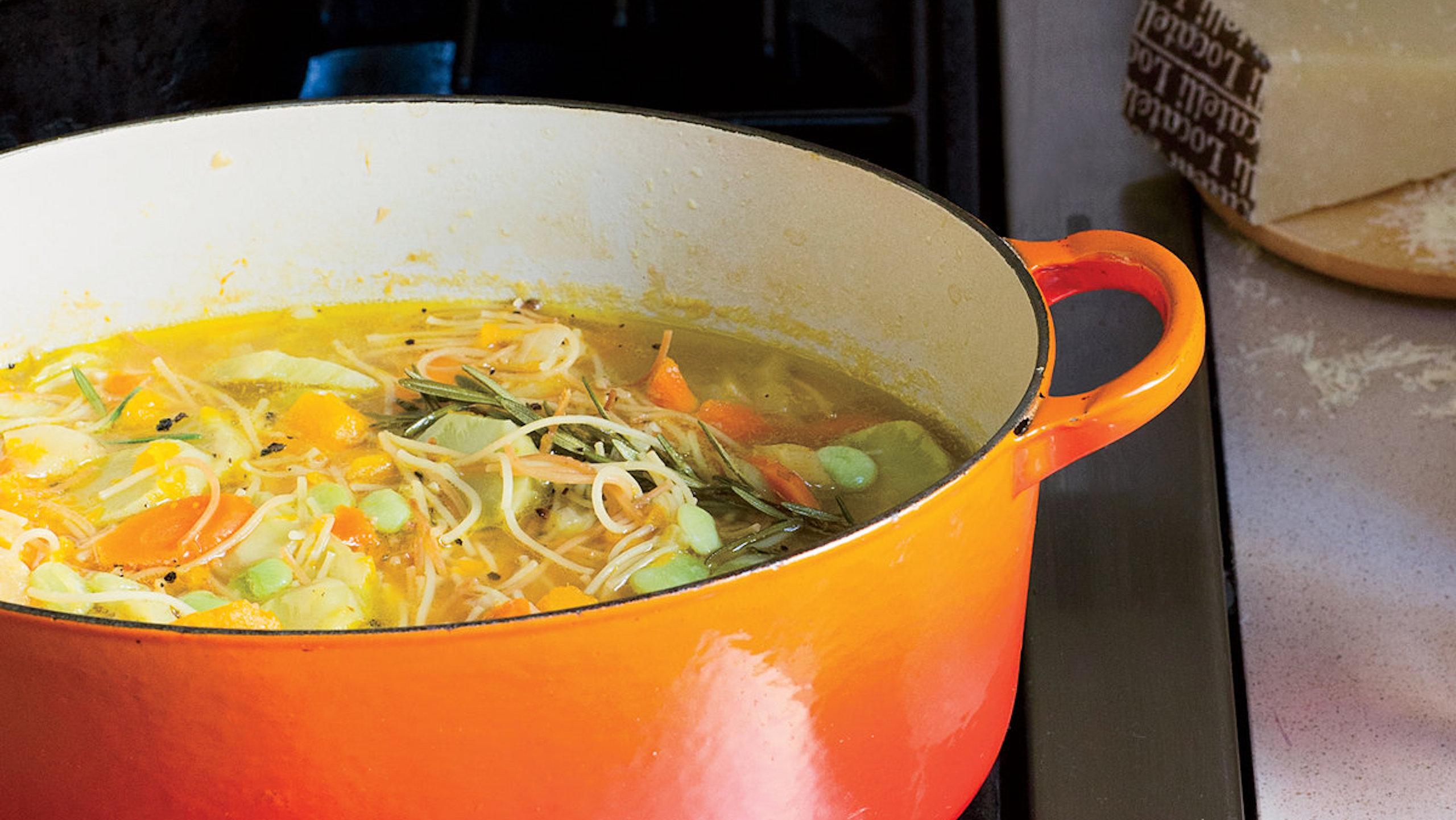 minestrone hortalizas de raiz