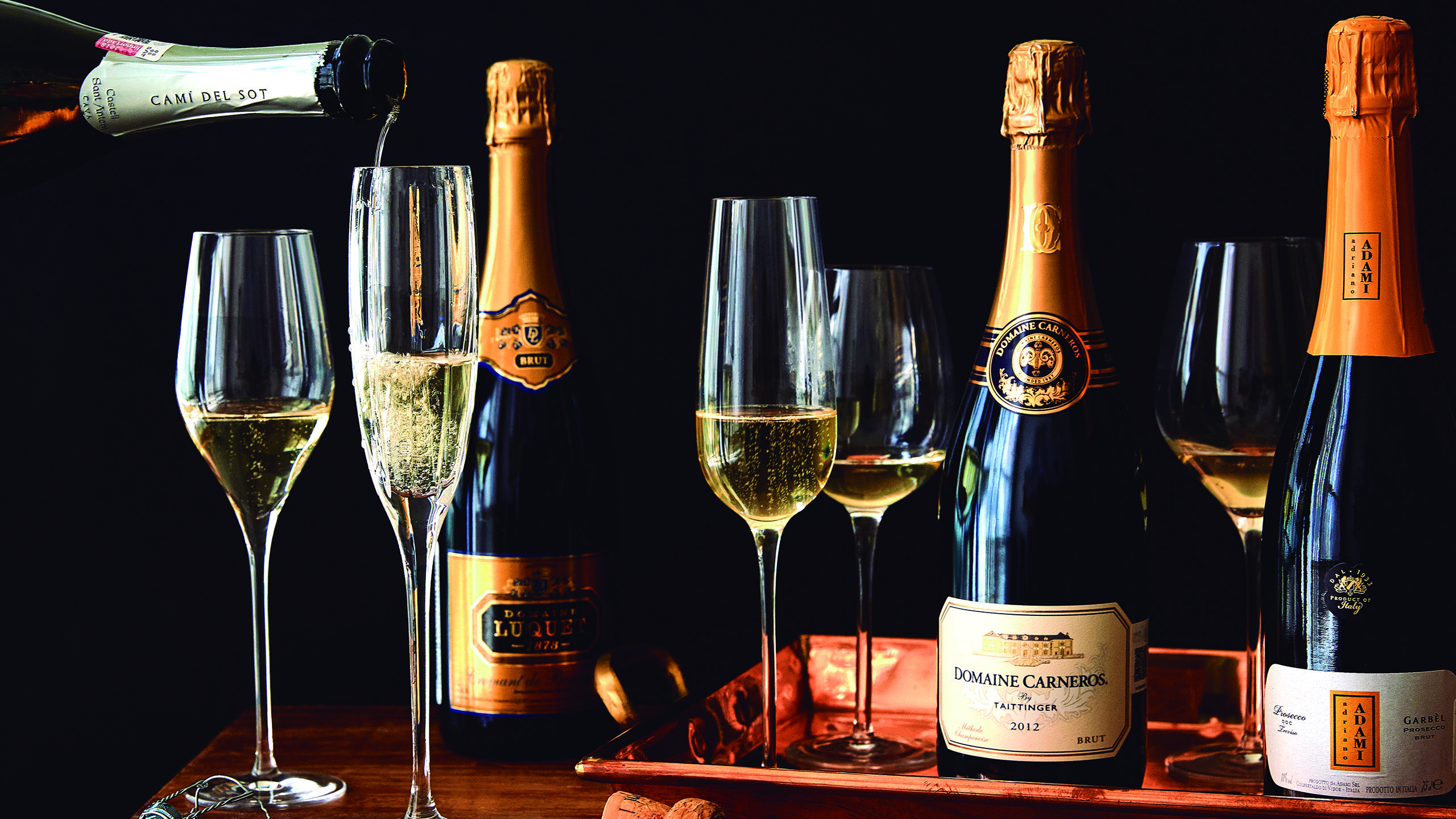 Las diferencias entre la champaña y el prosecco
