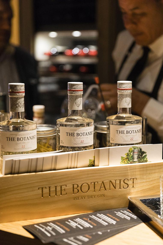 The Botanist fue la ginebra elegida para maridar los alimentos de la noche