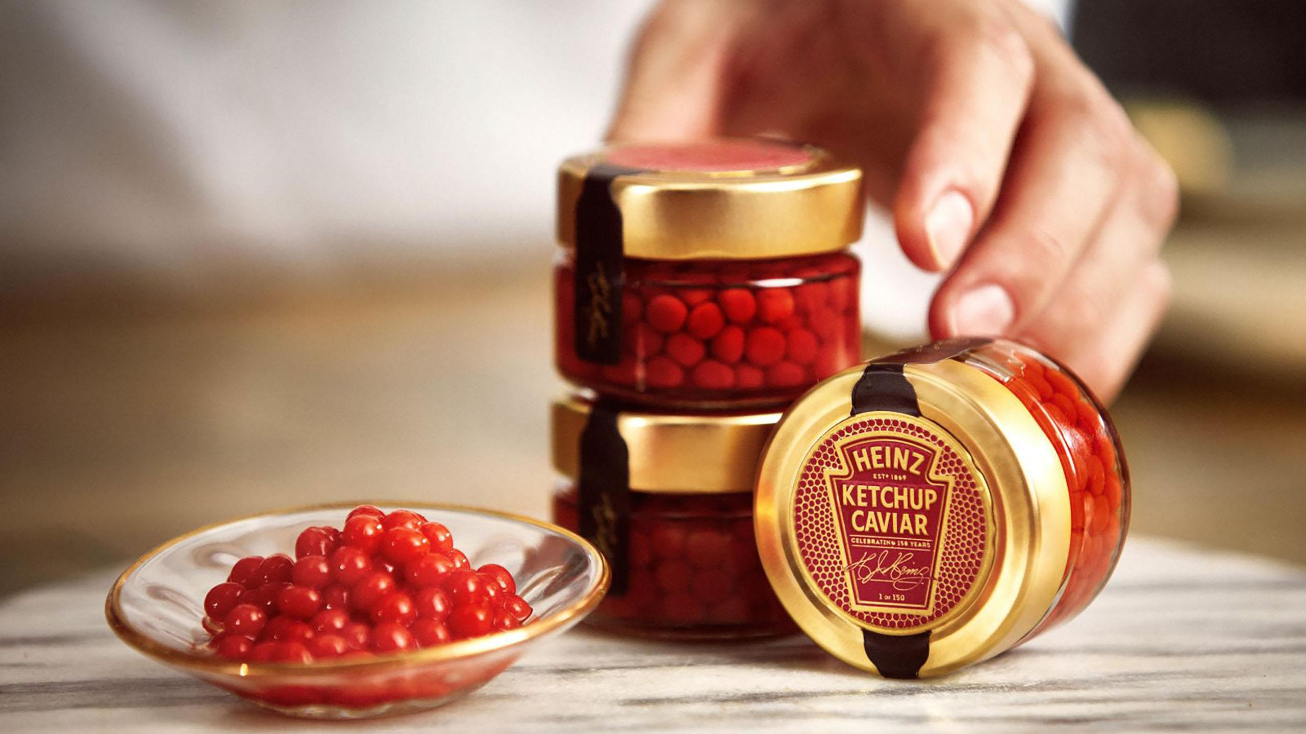 Heinz lanza una edición de caviar de catsup