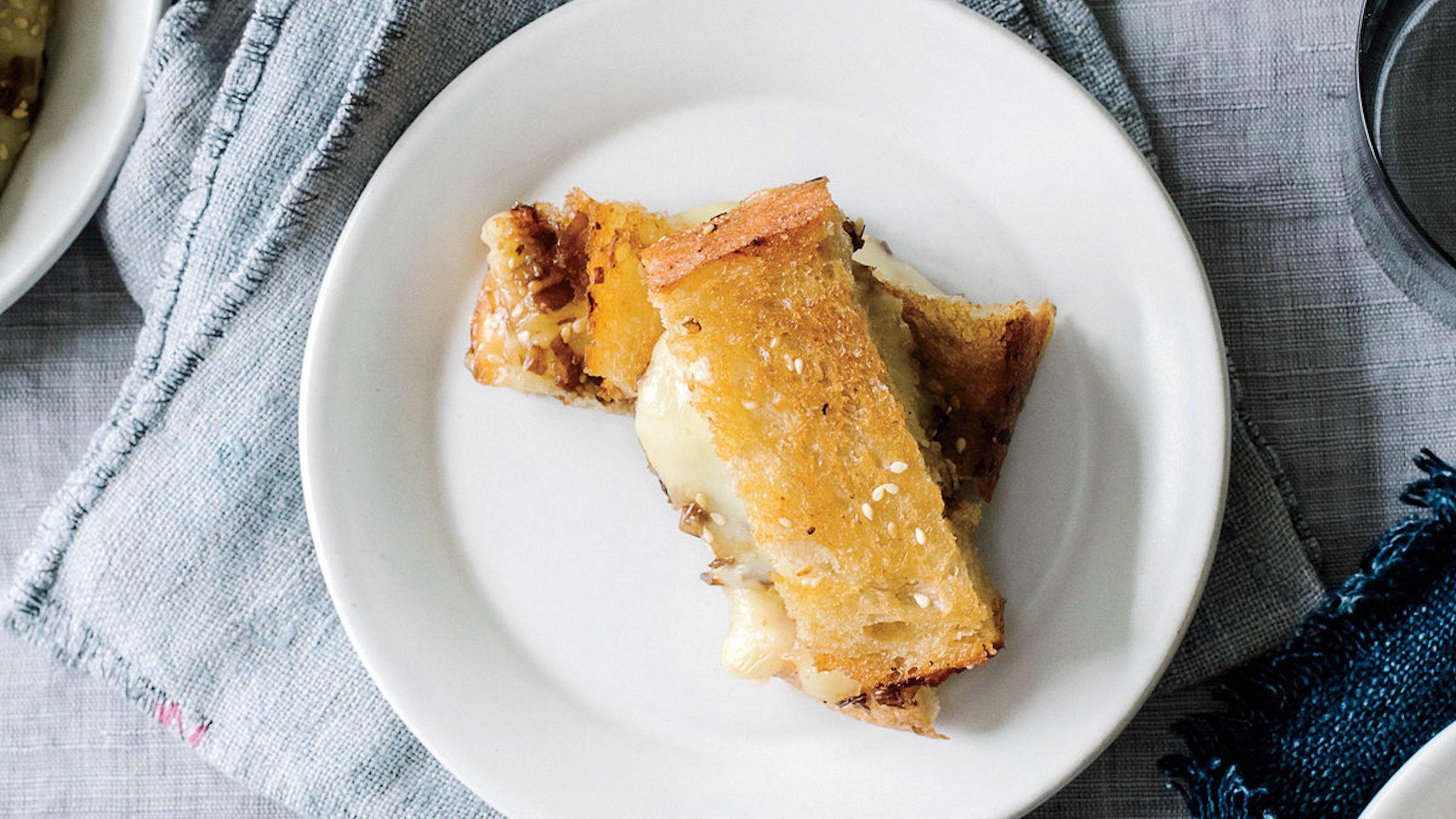 mini sándwiches de brie