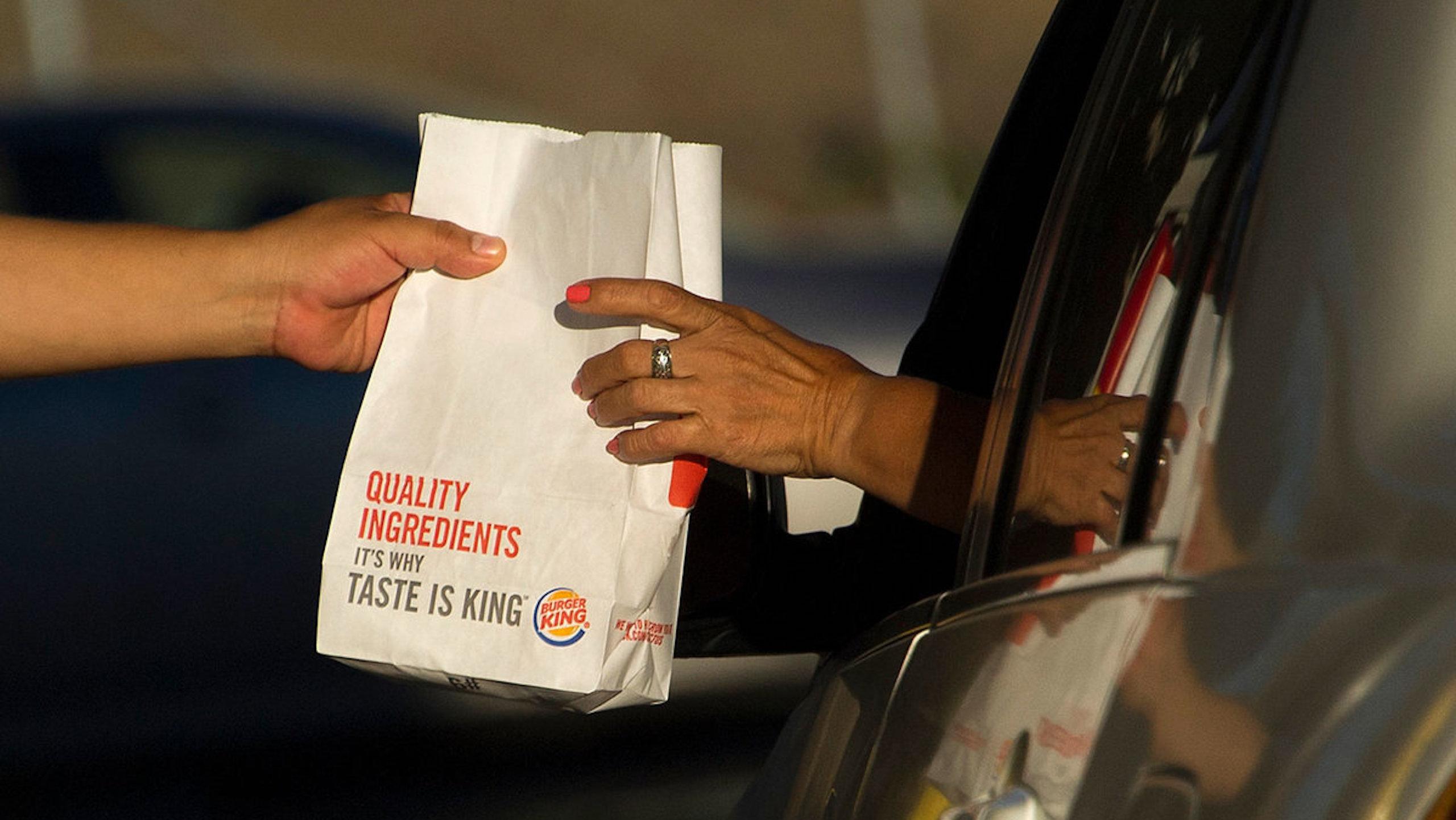 tráfico, burger king