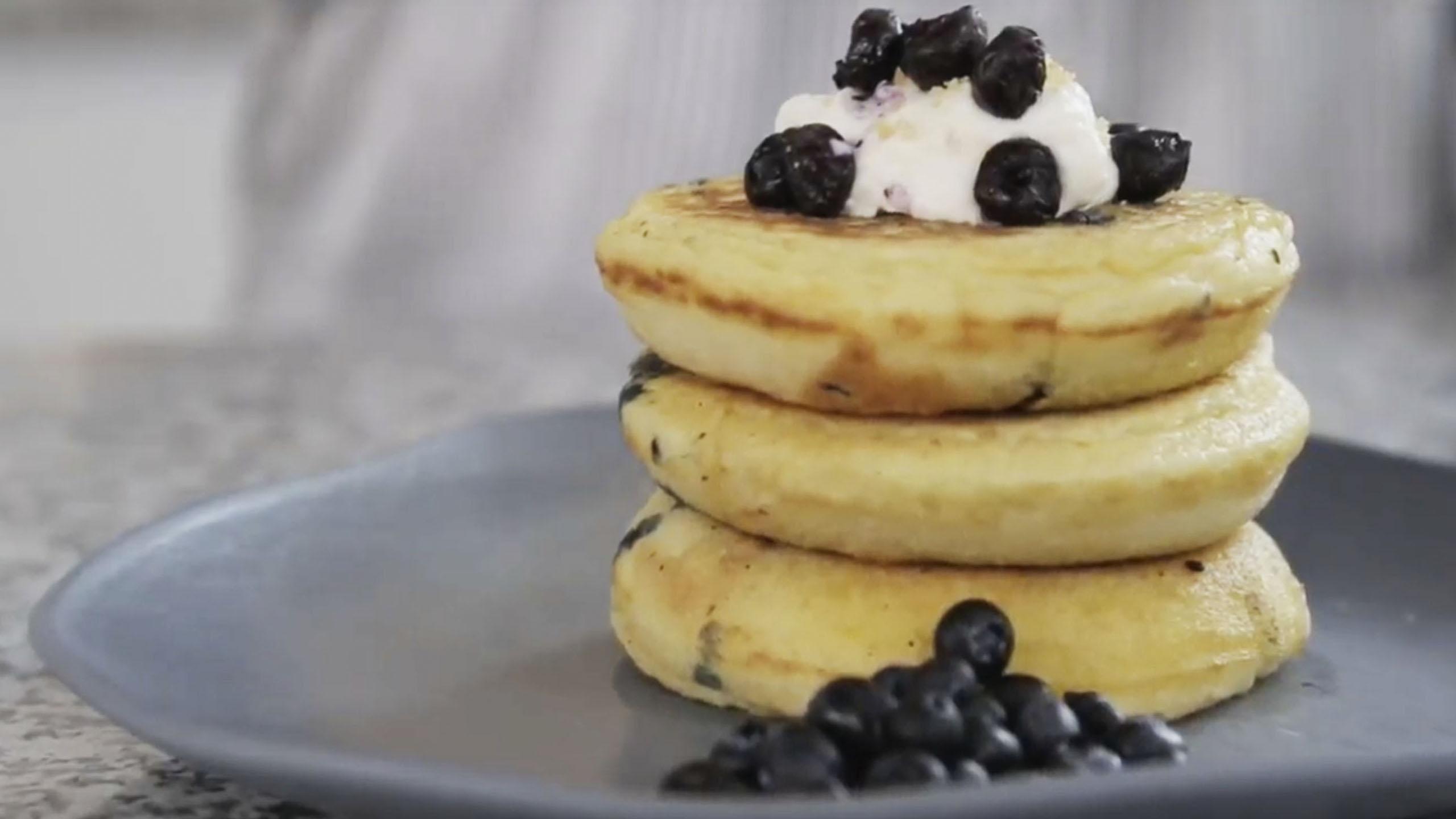 pancakes de niddo, desayuno, pancakes