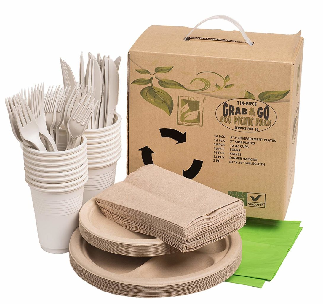 picnic utensilios