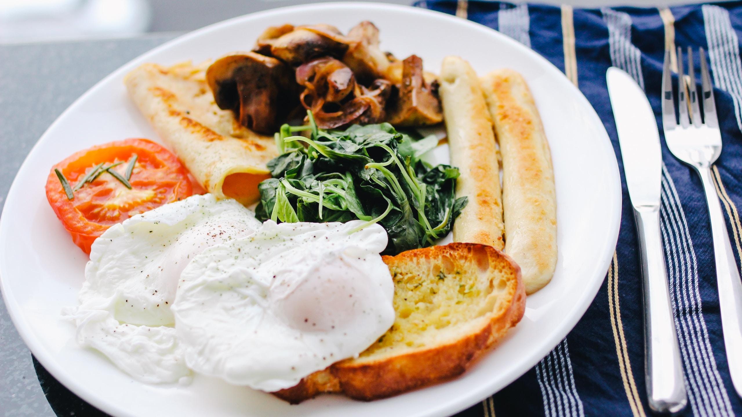 plato huevo porciones
