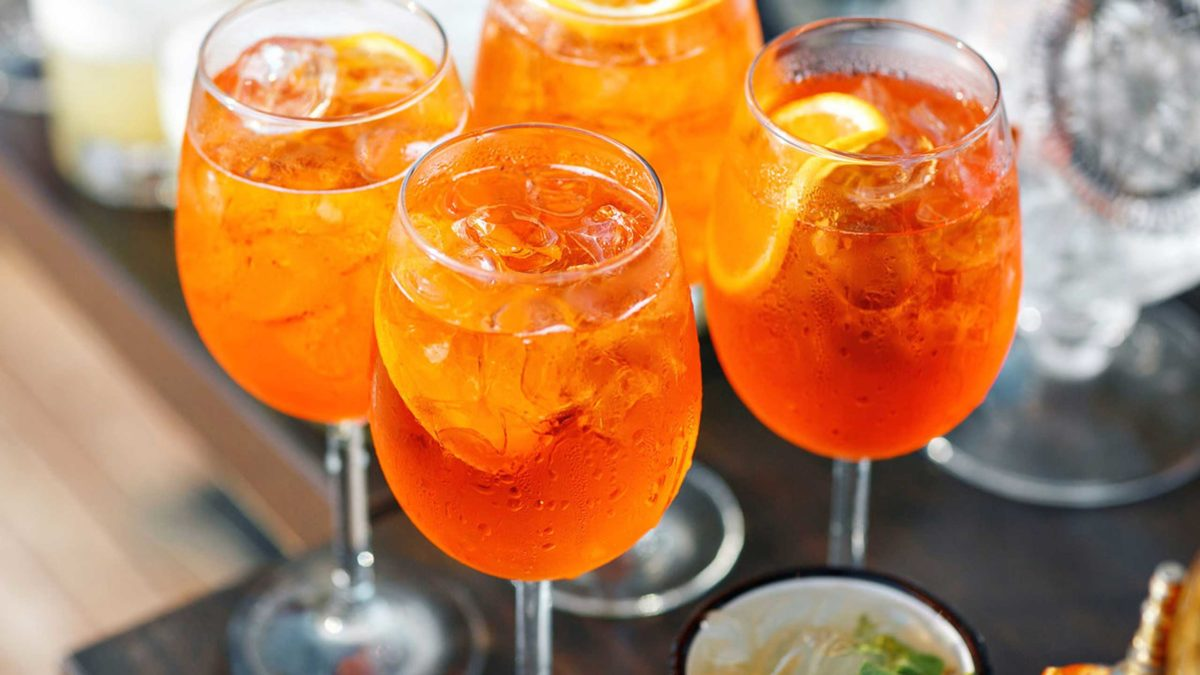 cocteles con prosecco- aperol spritz