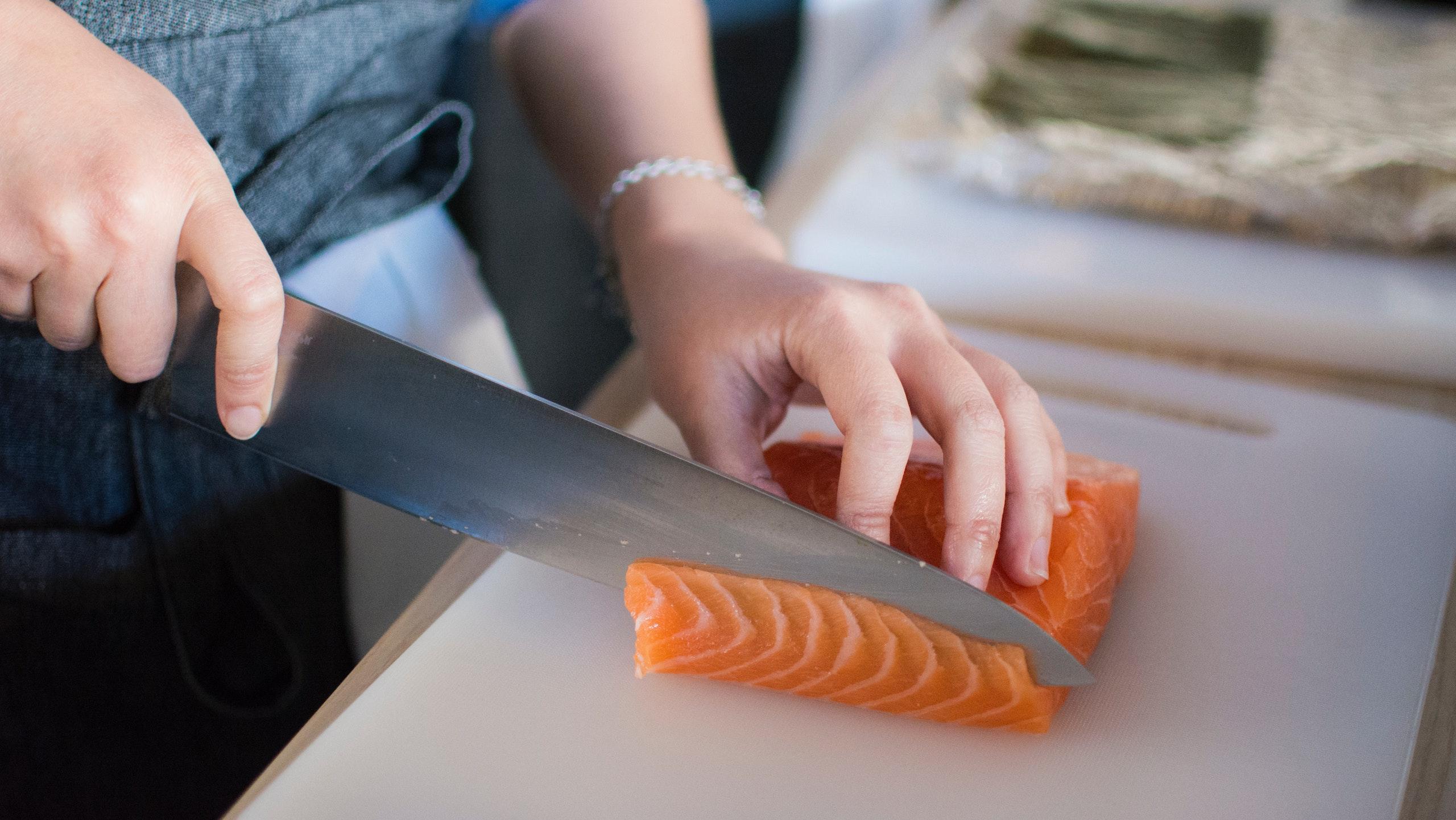 salmón de granja