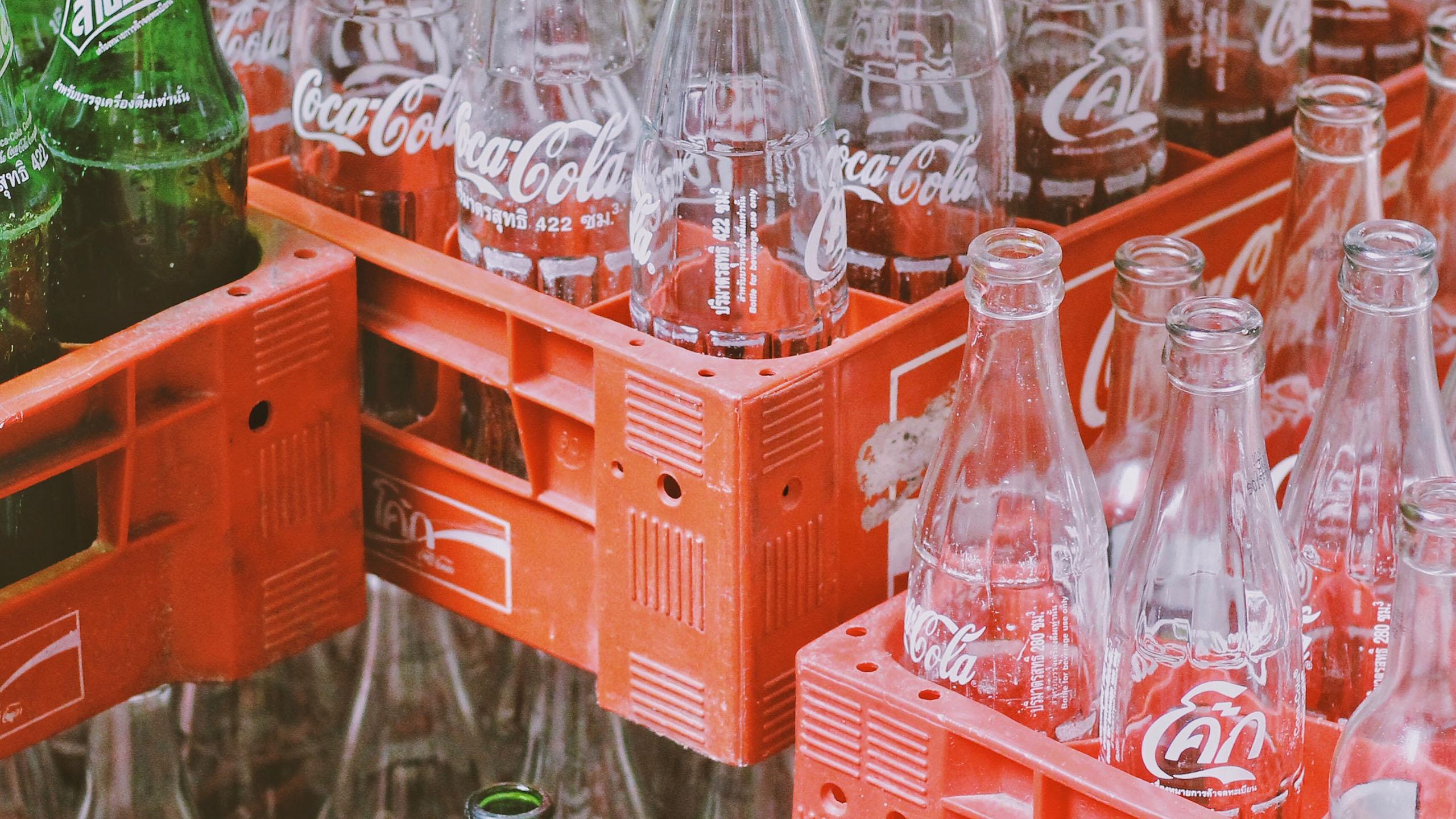 botella de vidrio, refrescos