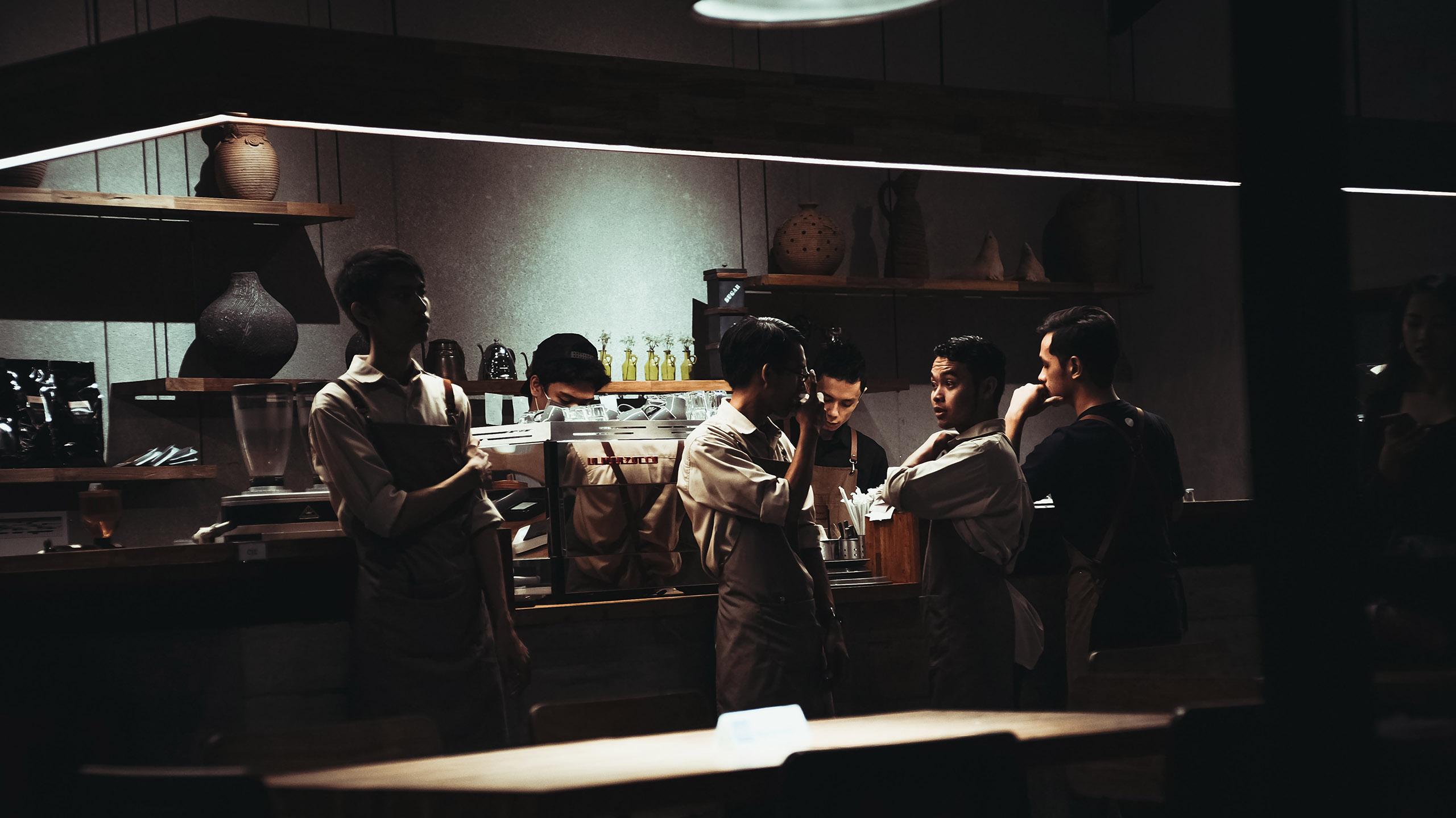 trabajadores de cocina, kitchen staff