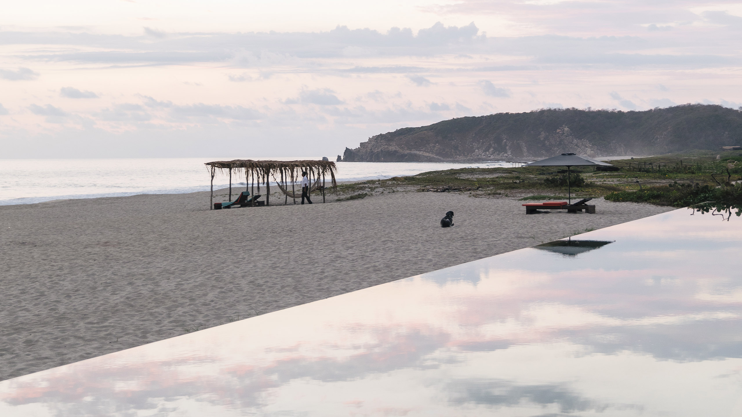 playa, alberca, infinity pool