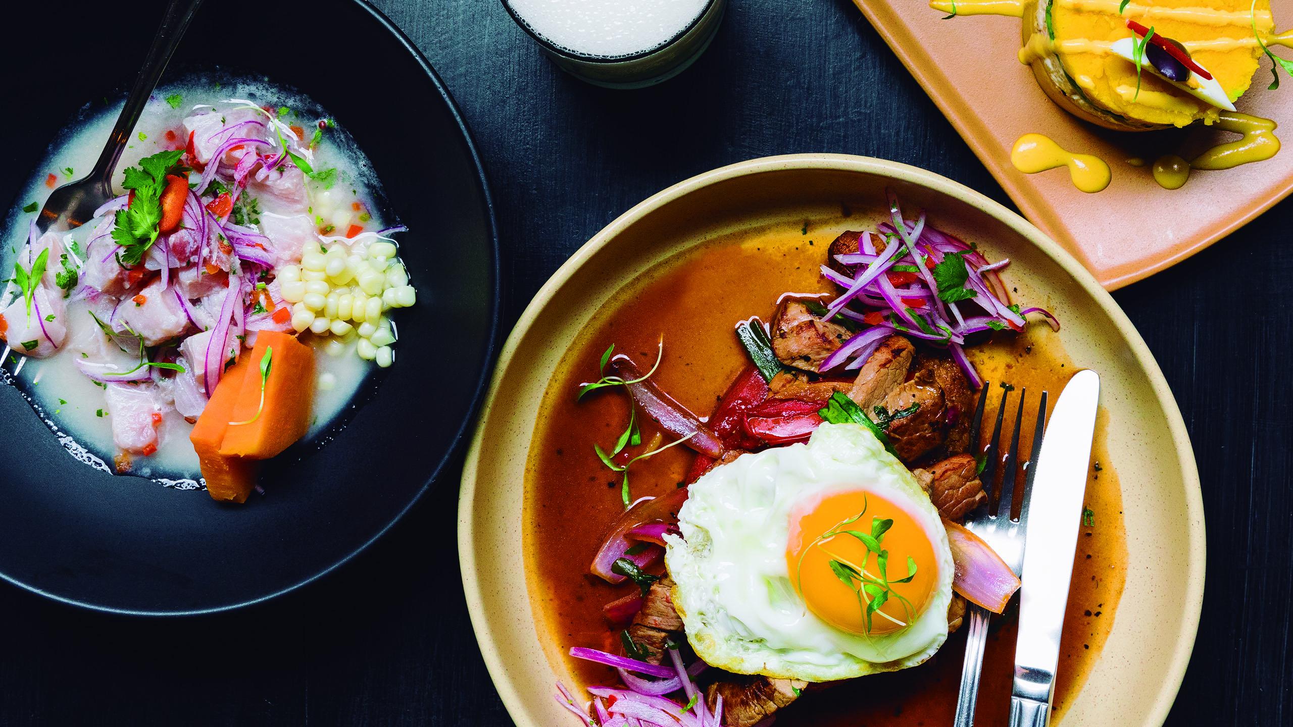 Pisco, comida peruana