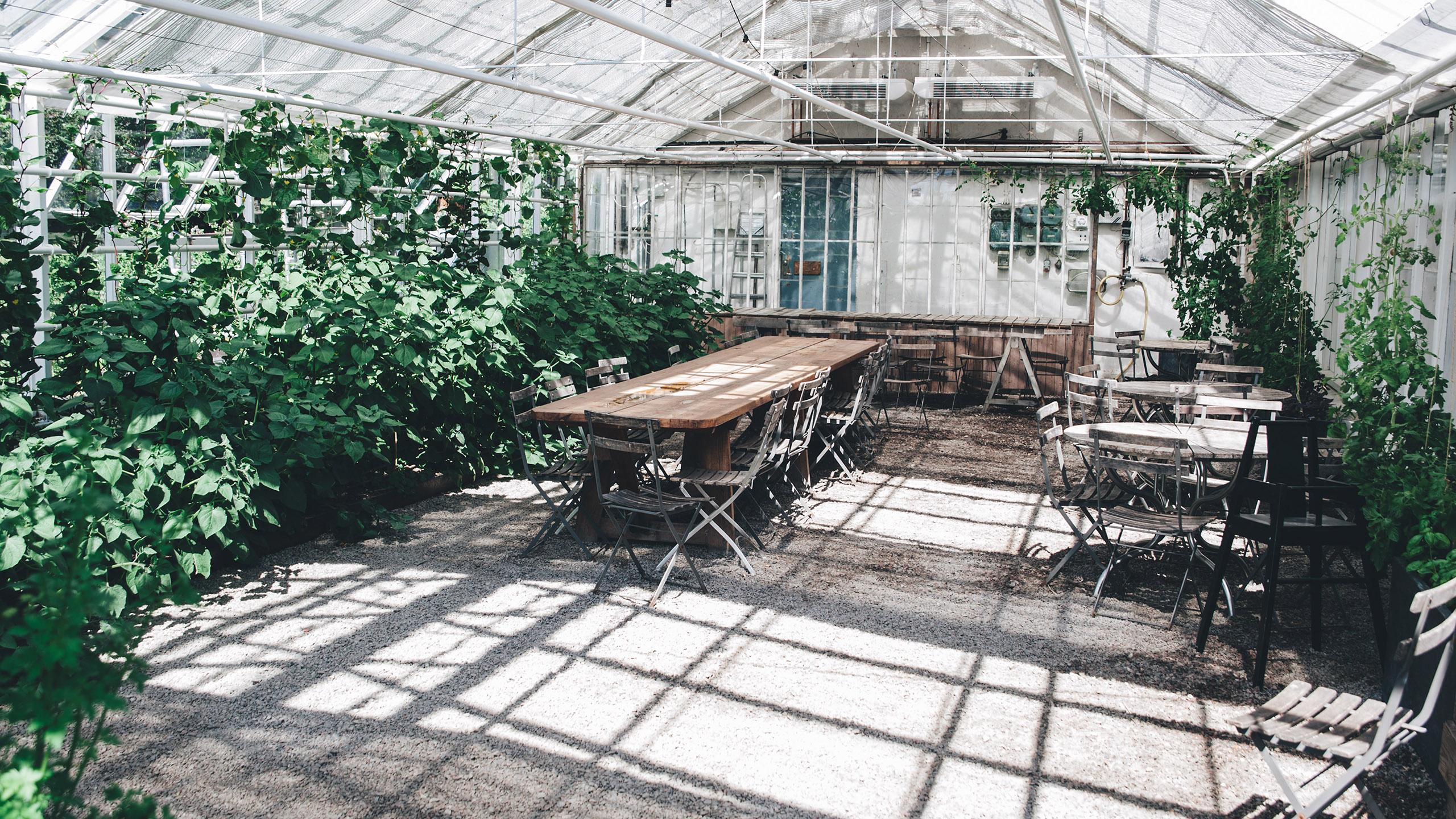 huertos en restaurantes