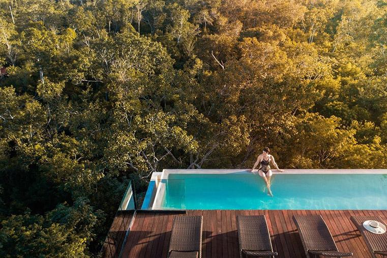 selva, Tulum, infinity pool