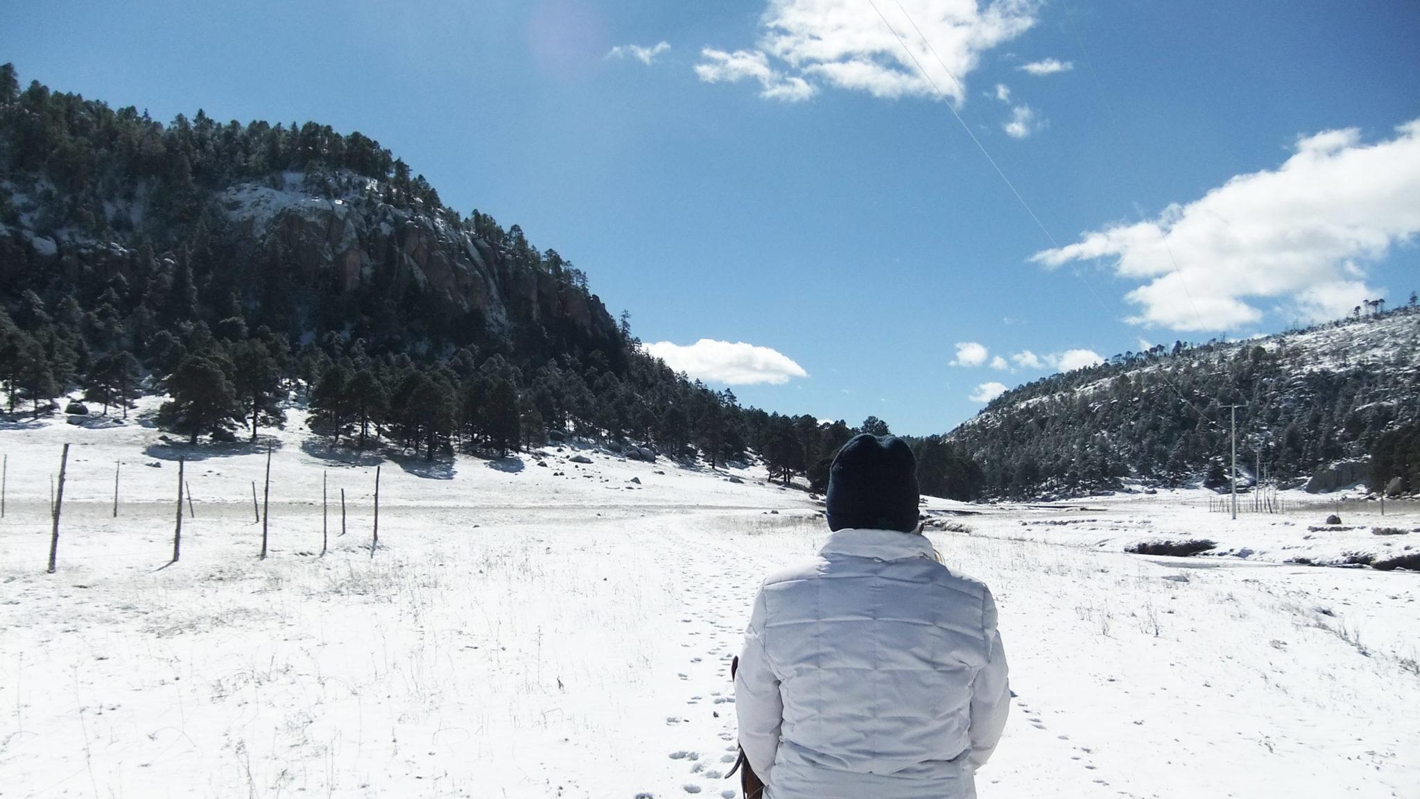 Creel, Chihuahua, nieve, México