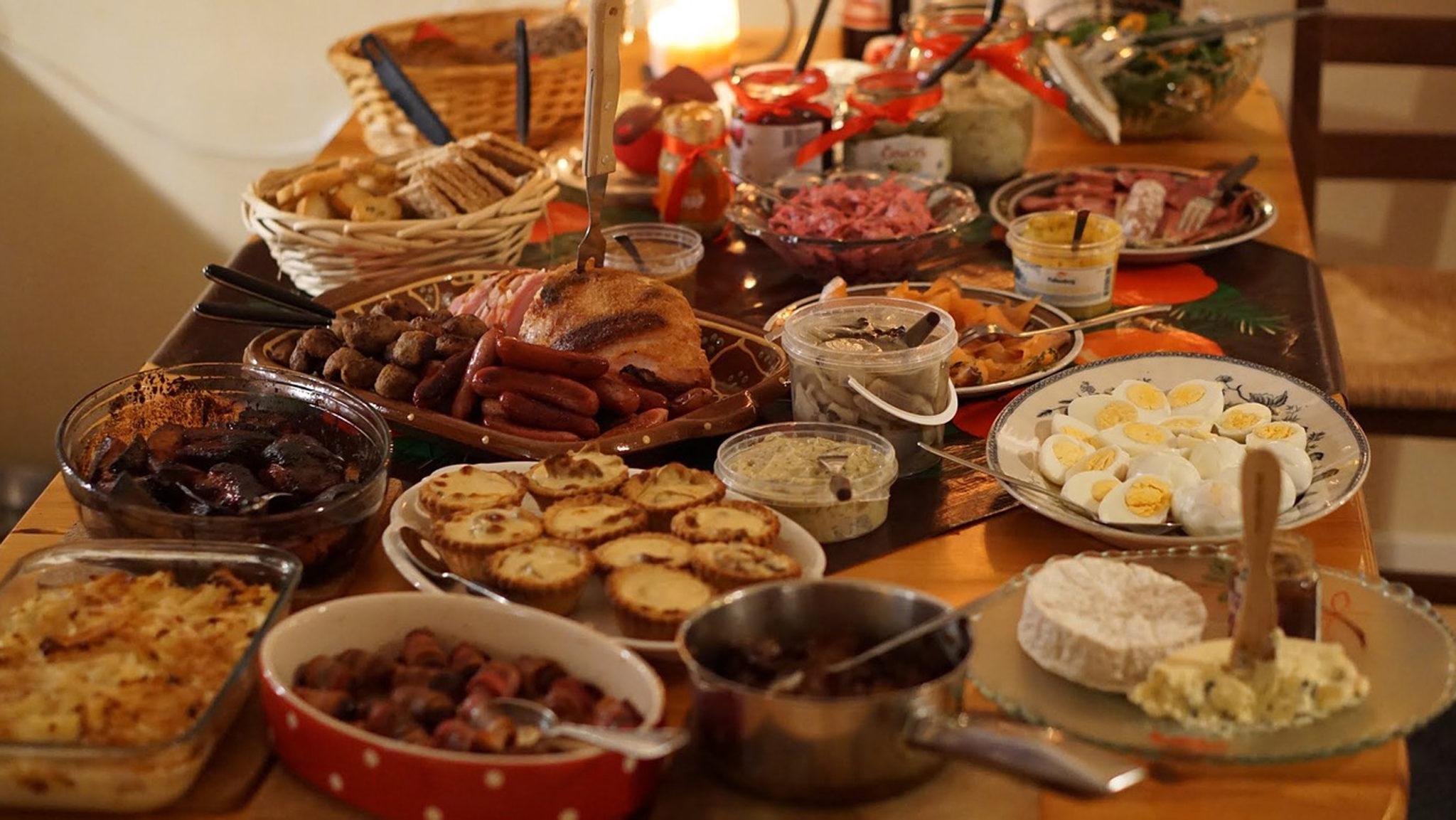 cena navideña, festín navideño