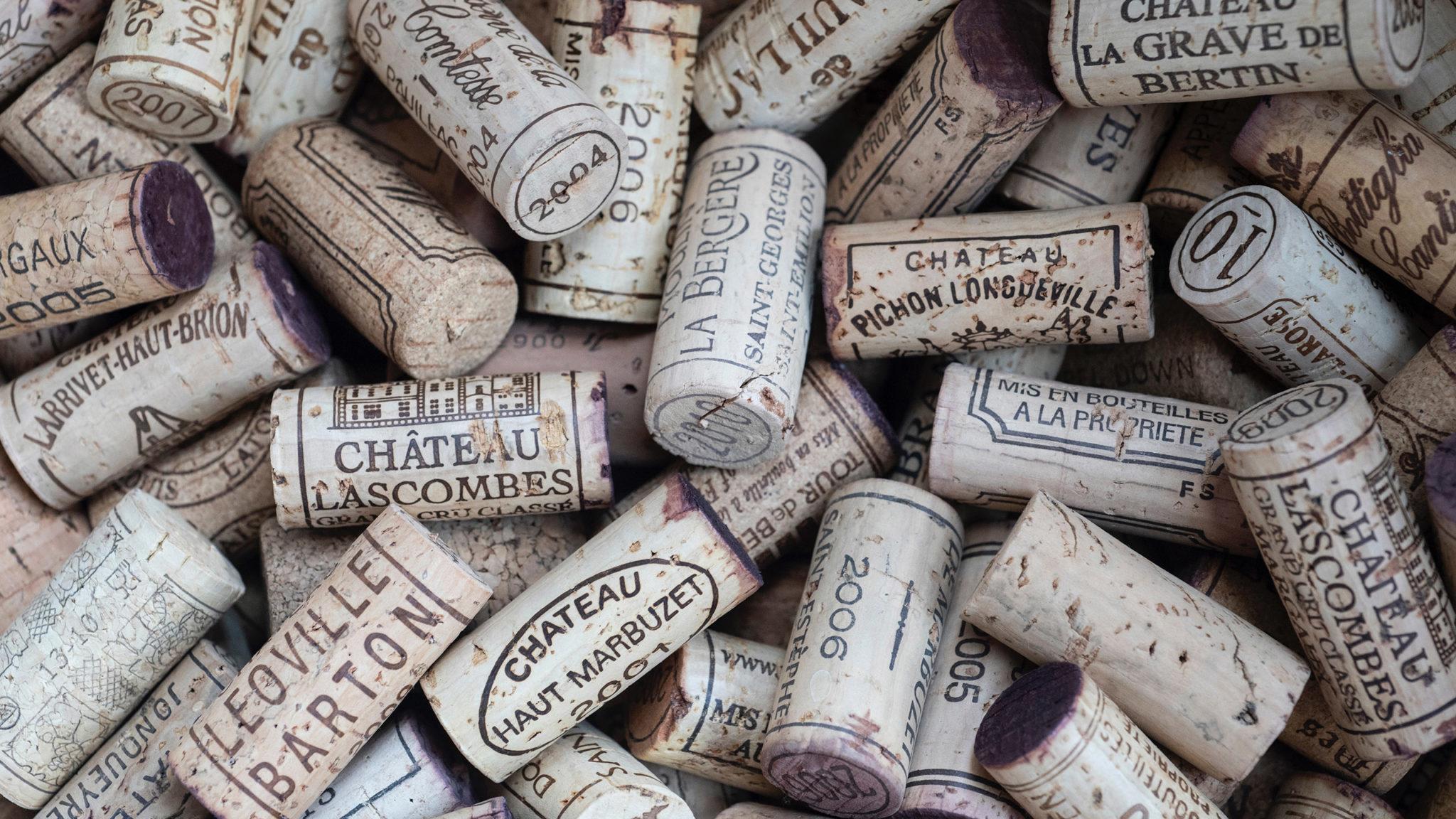 vinos, tarifas internacionales, corcho