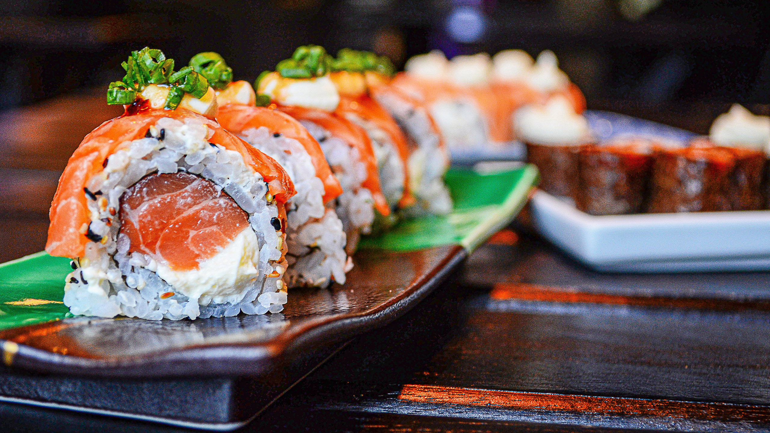 maki, sushi, rollo, arroz