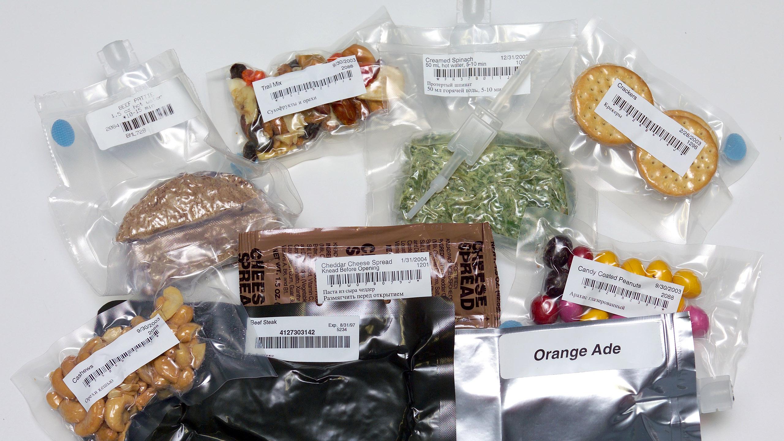 comida del espacio, comida, astronautas, espacio