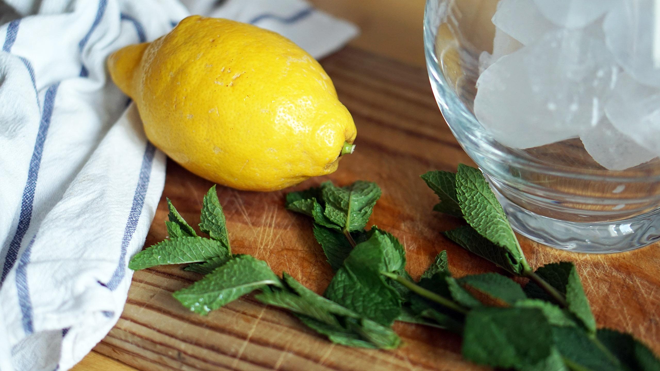 limón, cítricos, menta