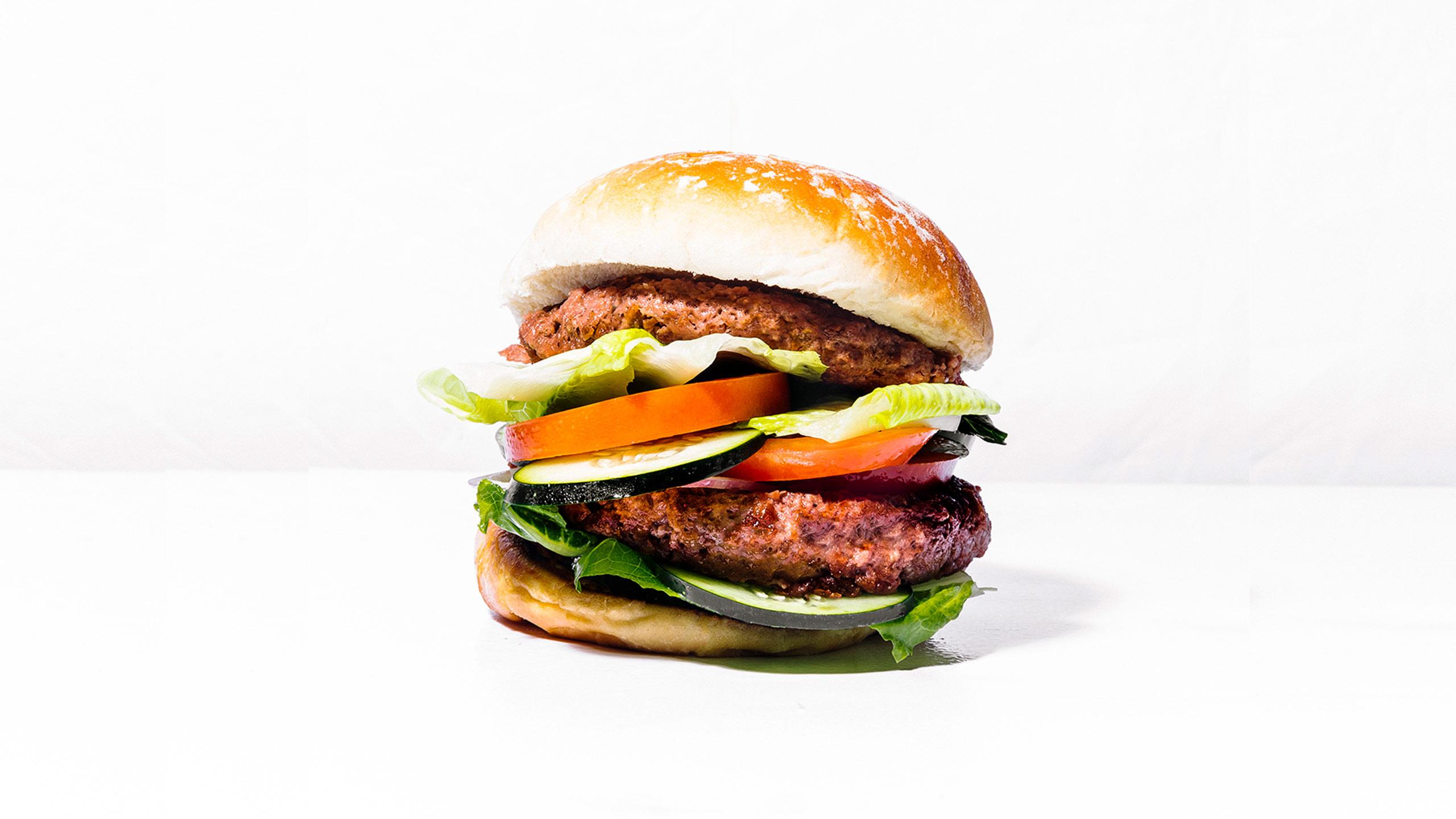 hamburguesa de carnes vegetales