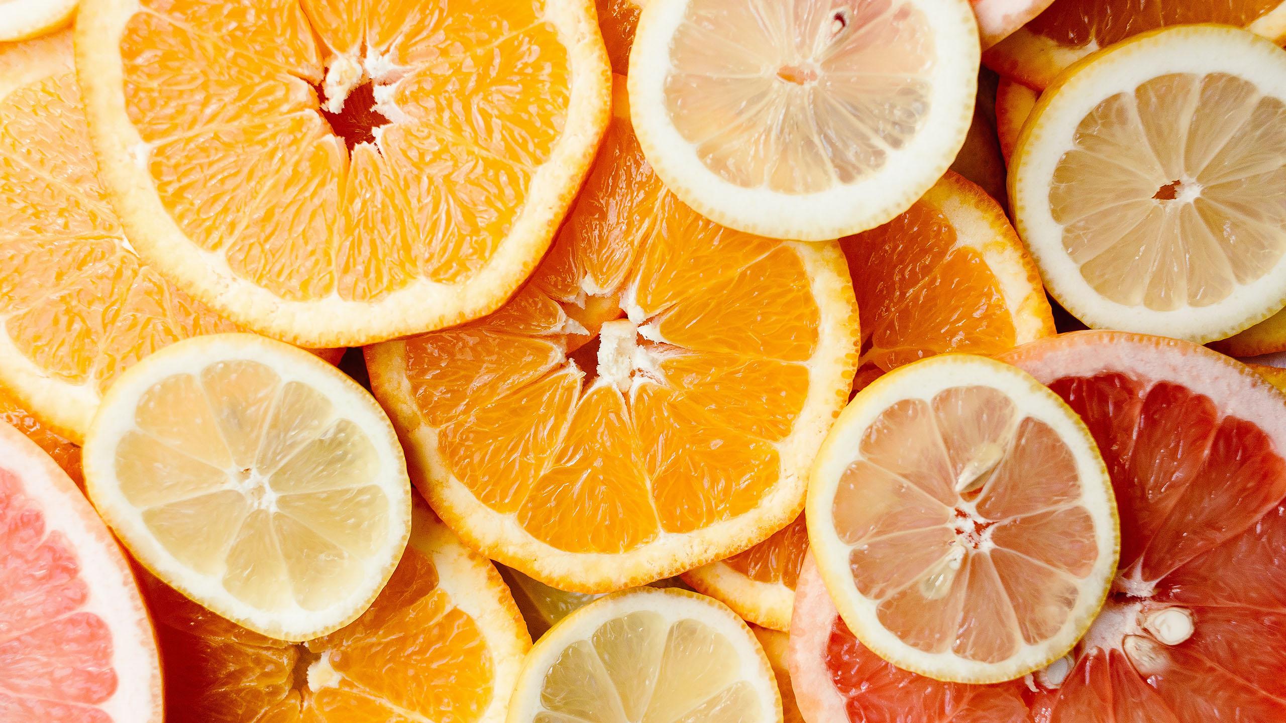 cítricos, limón amarillo, toronja, naranja