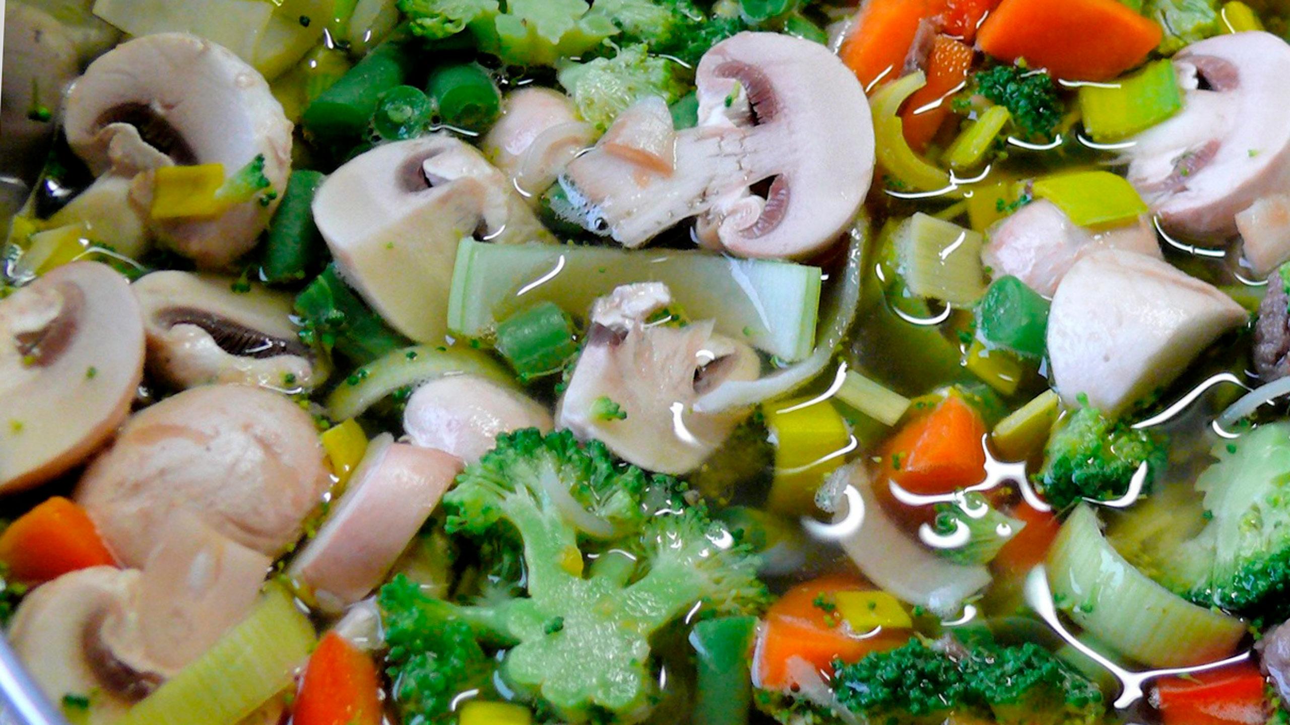 caldo de verduras ayuvédico