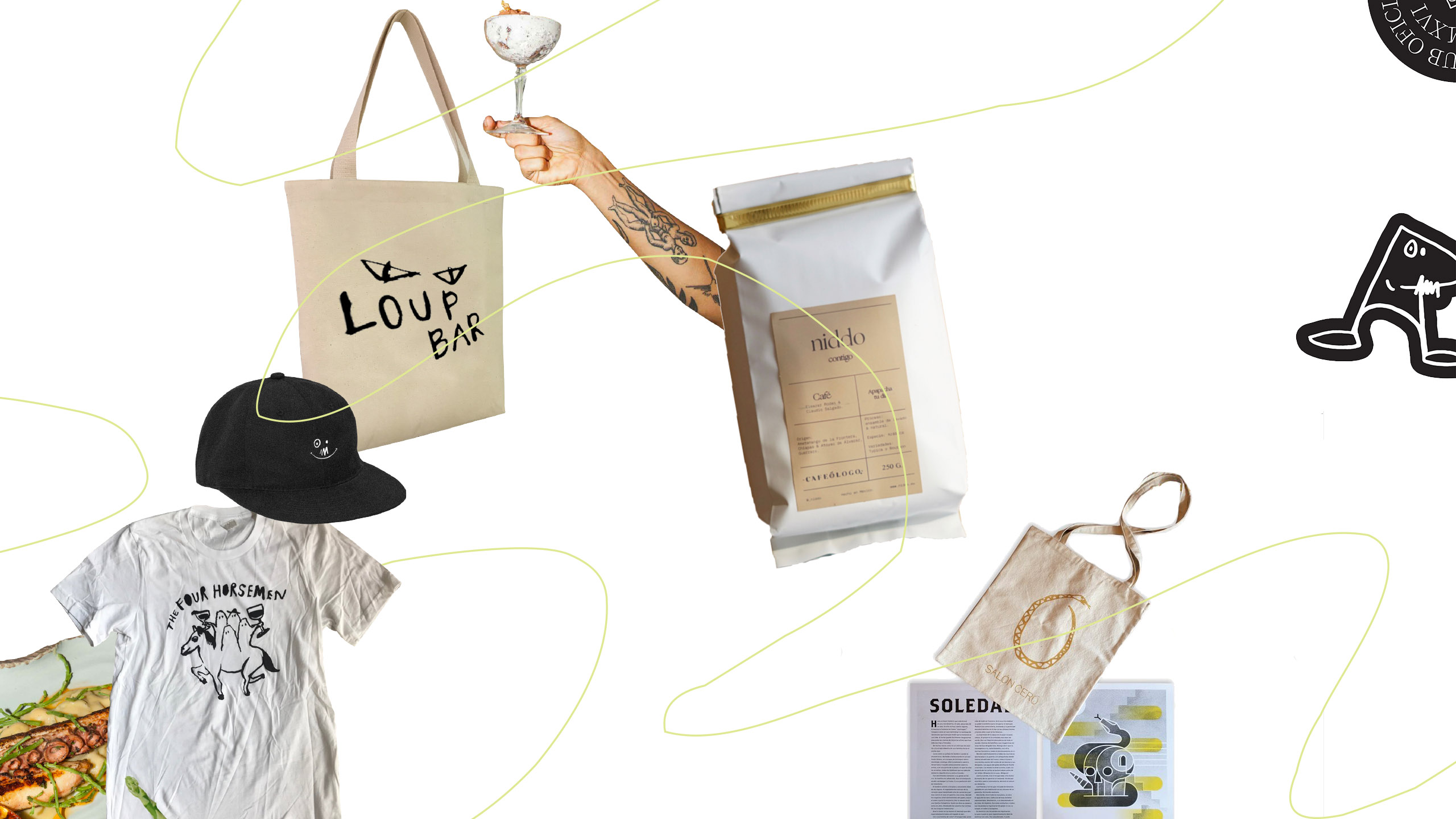 restaurant merchandise, objetos de restaurante