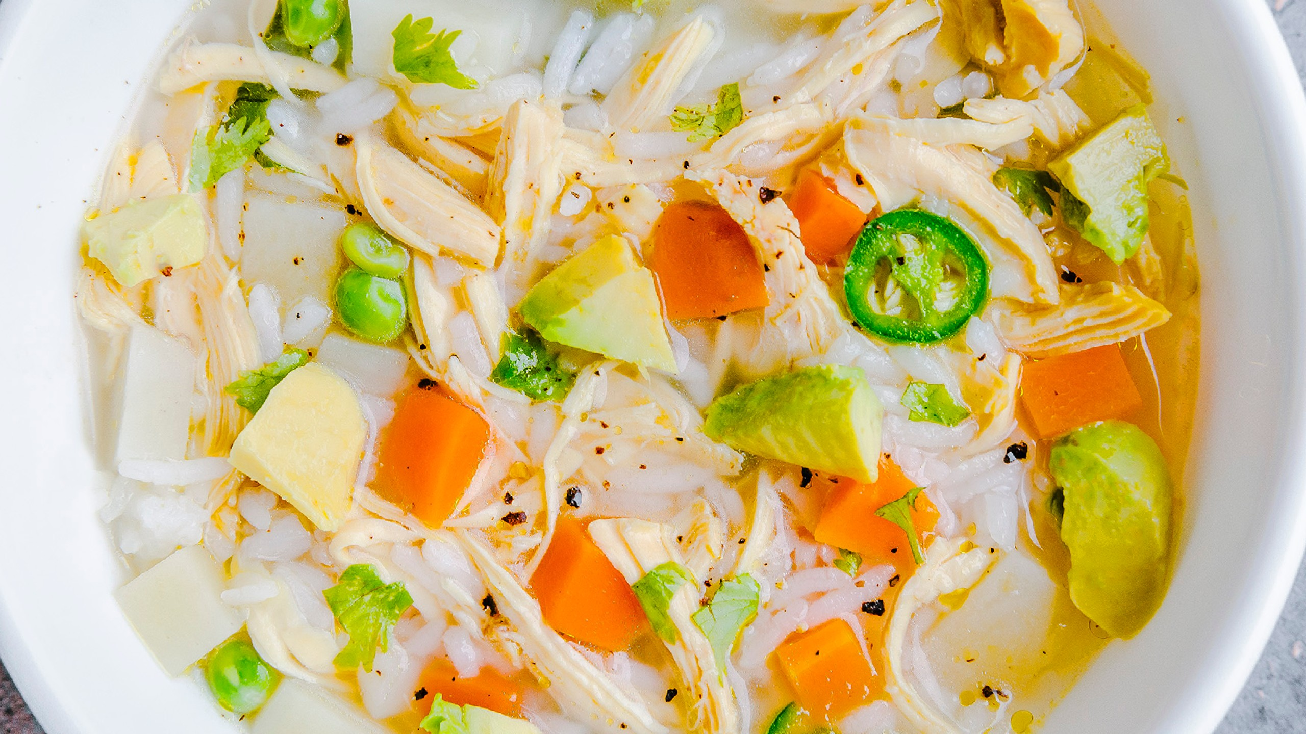 caldo de pollo, sopa de verduras
