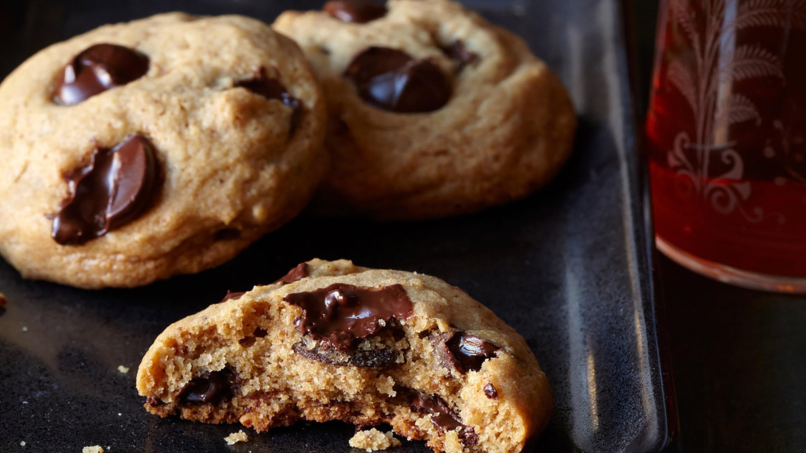 galletas, galletas de avellana, chispas de chocolate