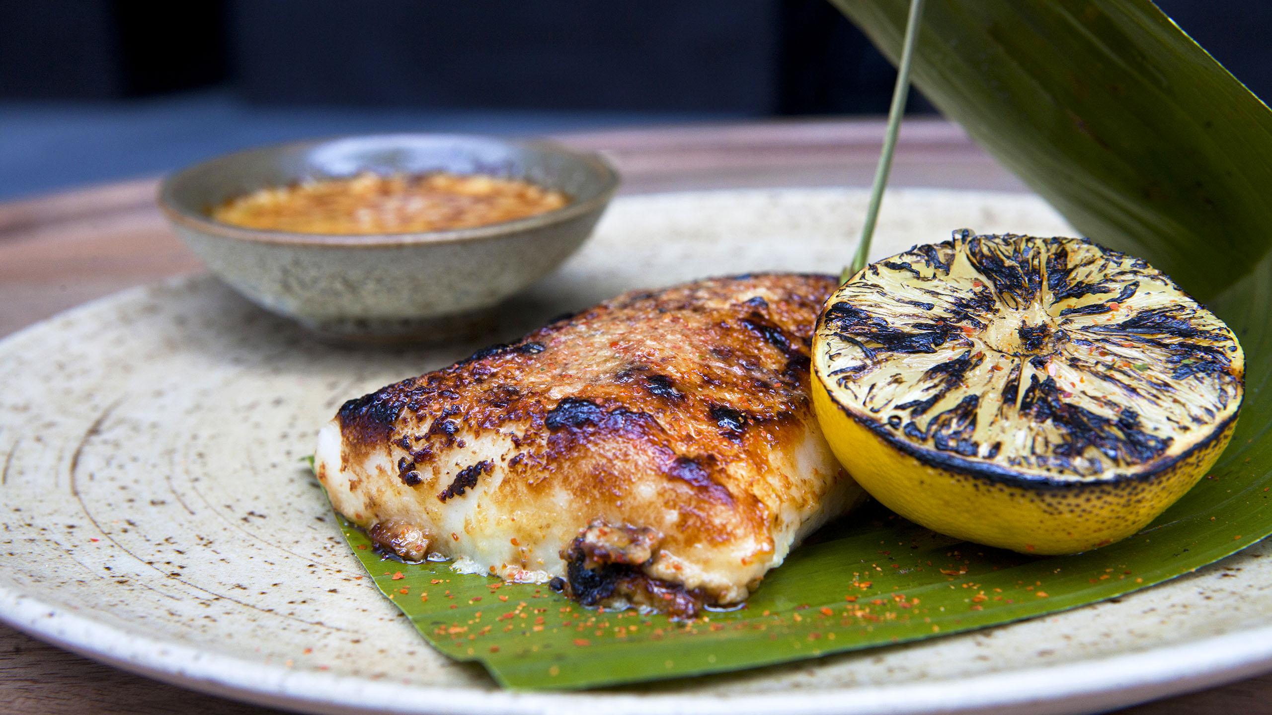 recetas con coco, filete de paiche con leche de coco, receta, pescado