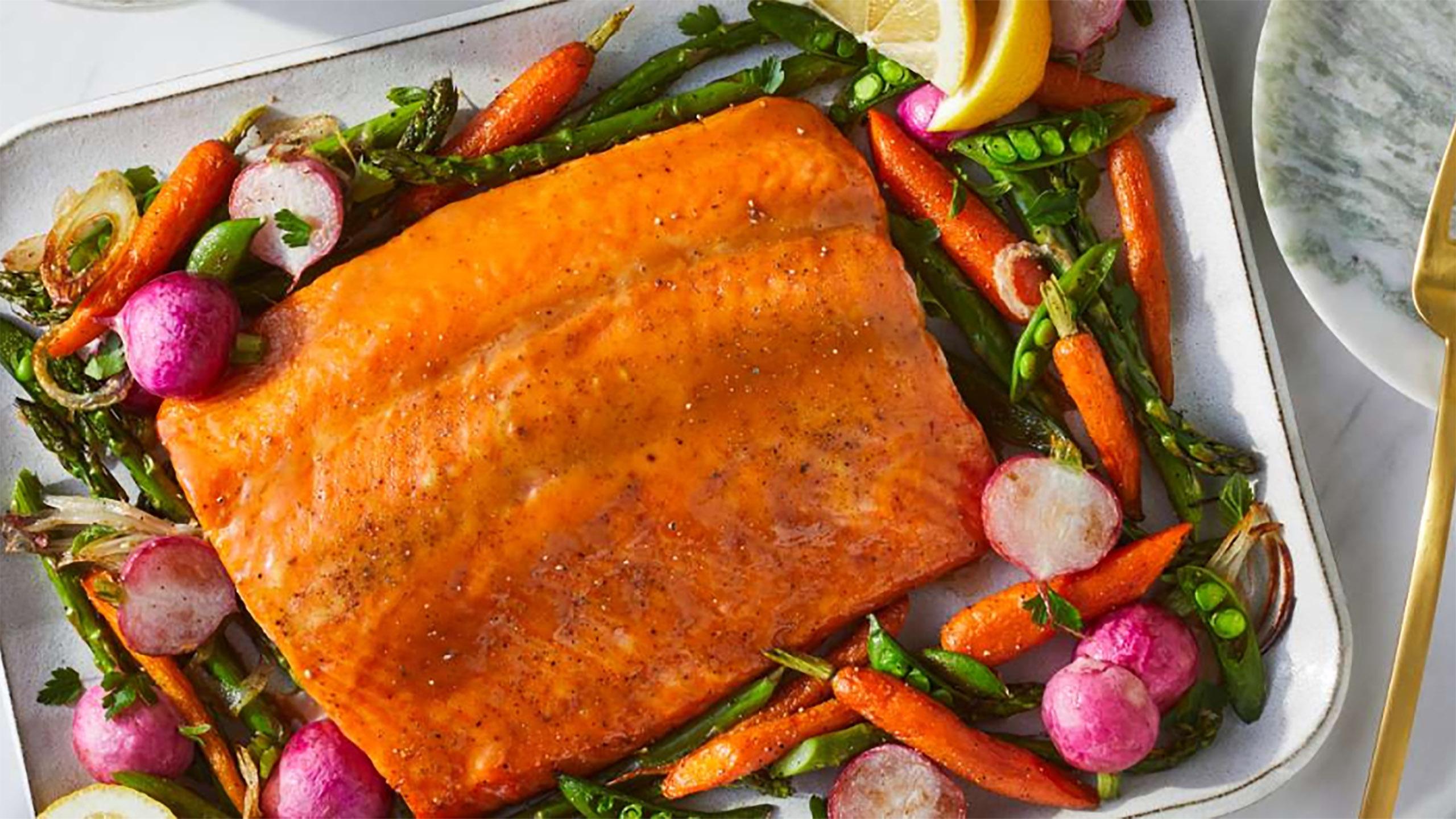 salmón, recetas con salmón, salmón glaseado