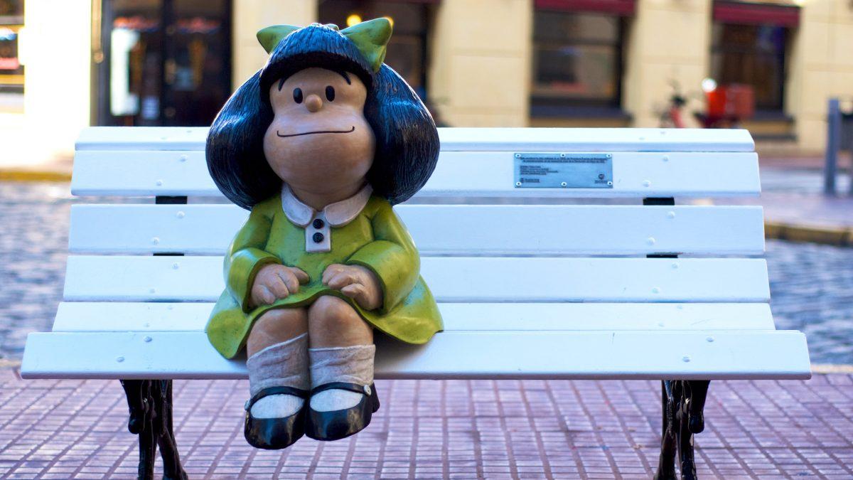 Escultura de Mafalda en San Telmo, Argentina