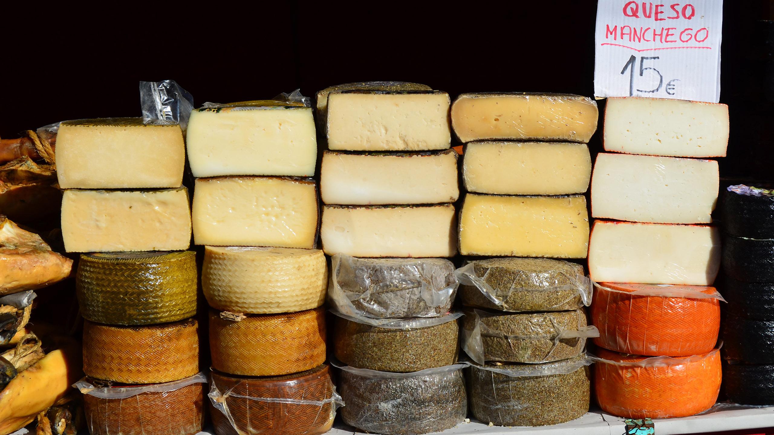 queso manchego, queso imitación, queso gouda, queso parmesano