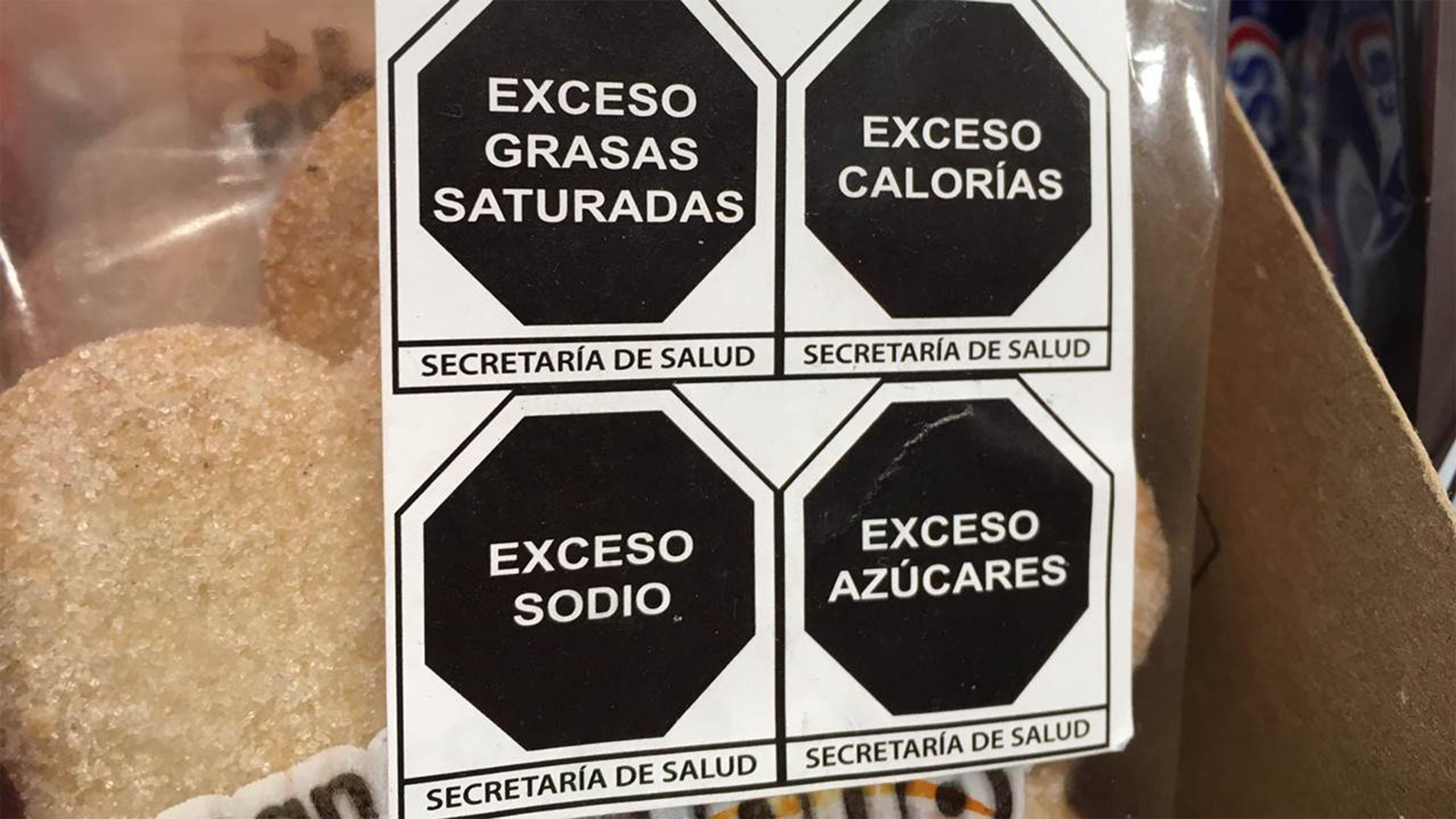 etiquetado de alimentos, méxico
