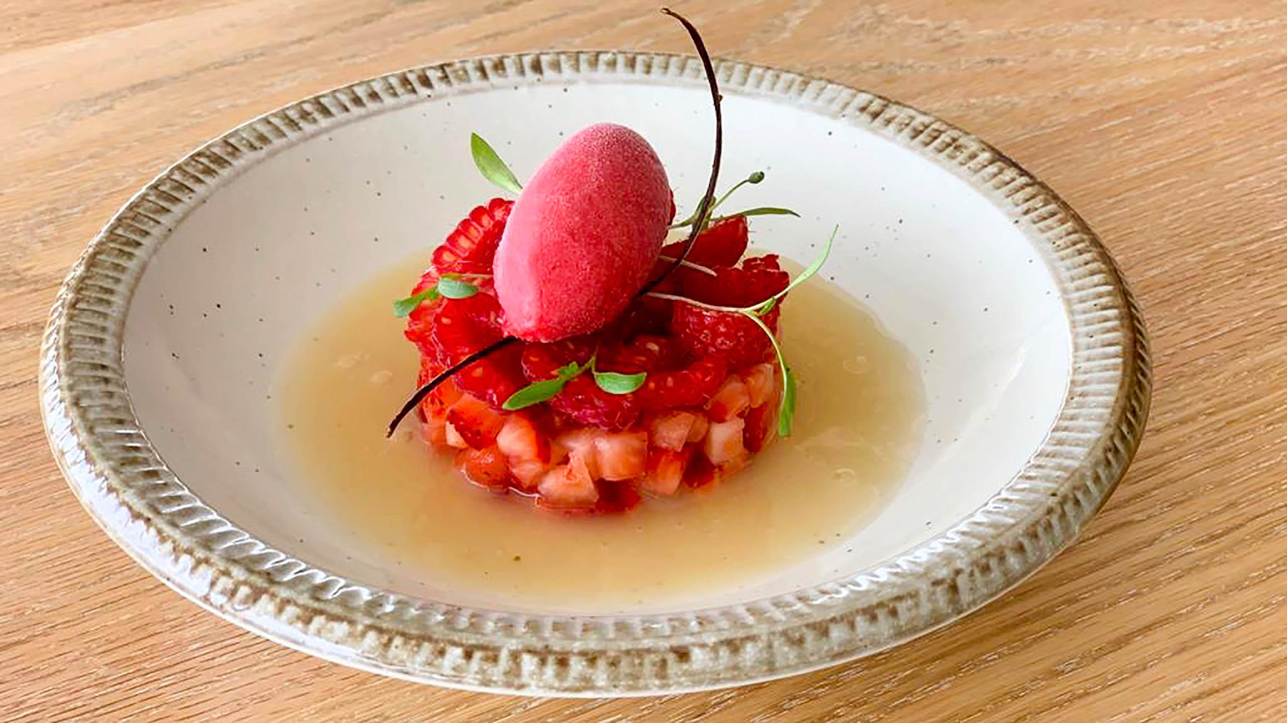 sorbete, gazpacho dulce