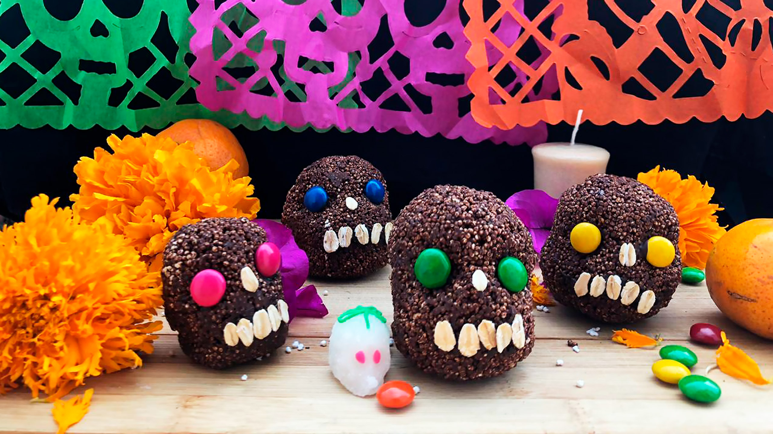 calaveritas de chocolate keto