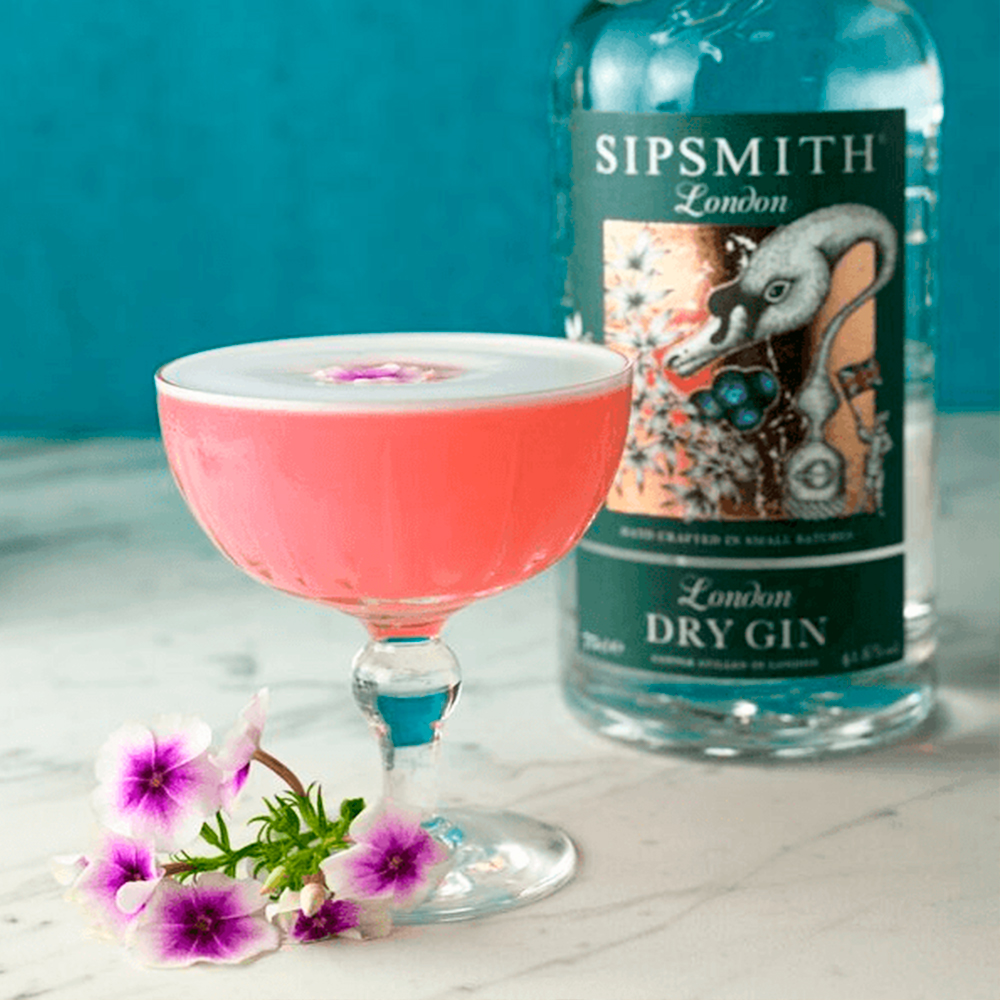 clover club coctel rosa sipsmith london dry gin