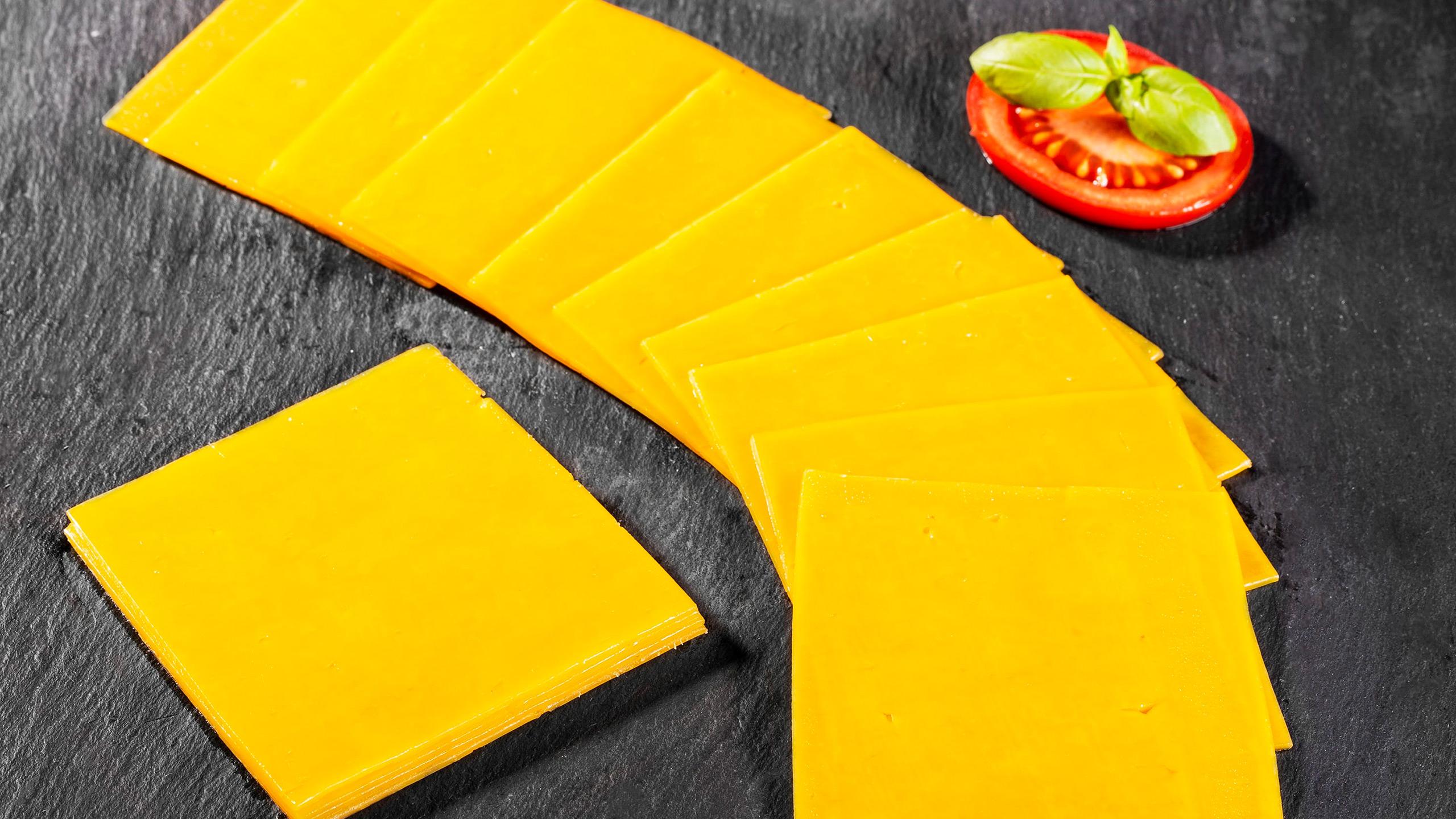 queso tipo amarillo americano
