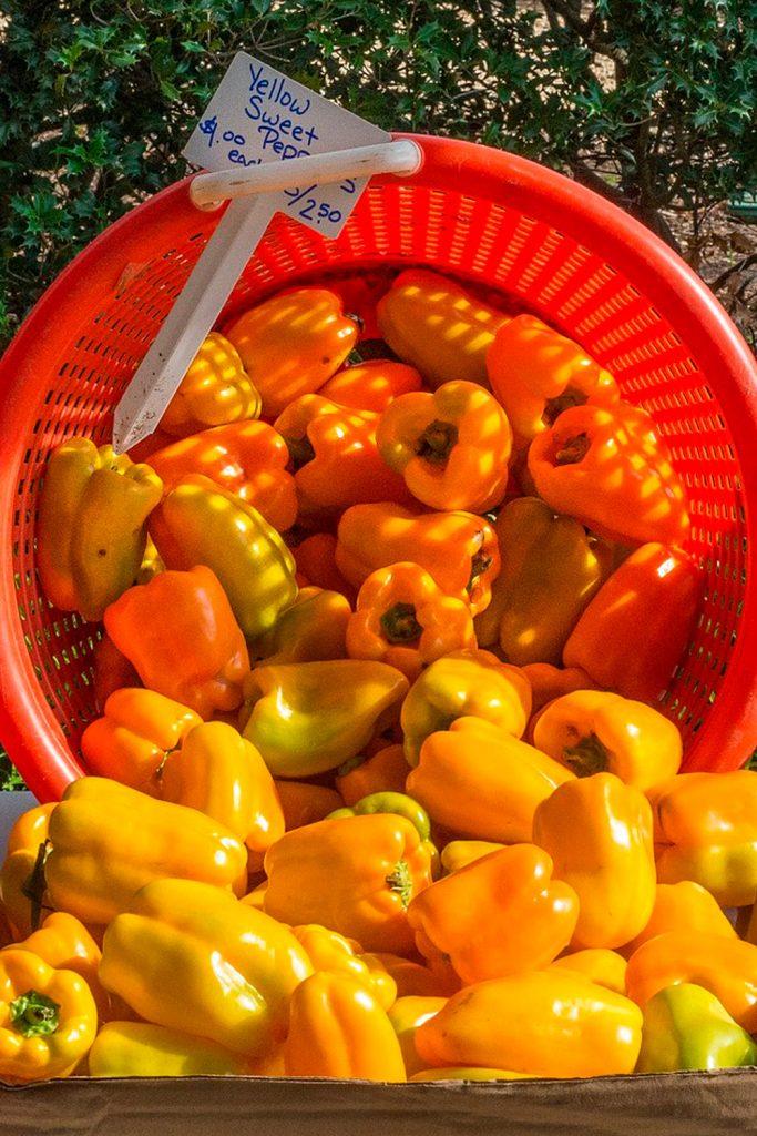verduras y vegetales amarillos