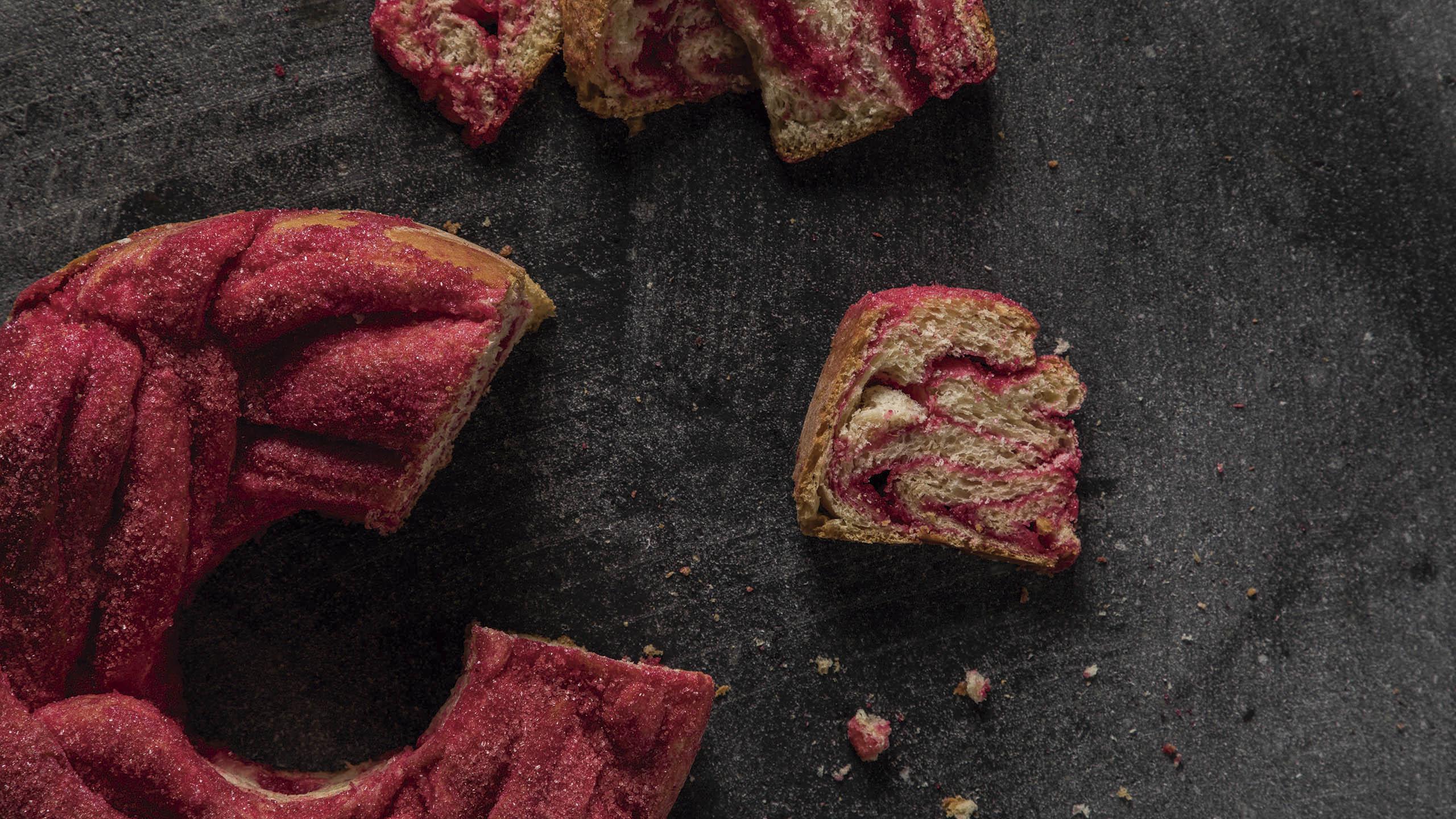babka, babka rosa, hornea la portada, panadería, receta