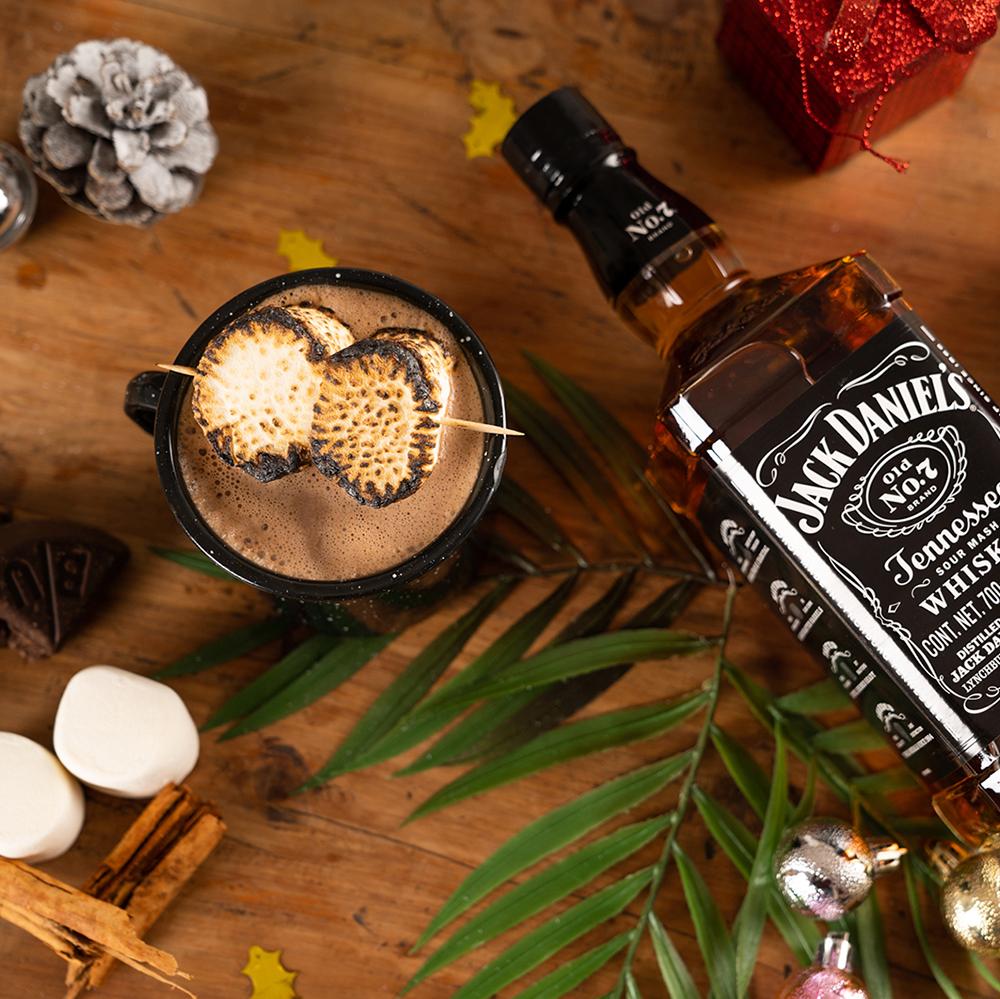 Cocteles navideños o para navidad- granny-jack daniel's